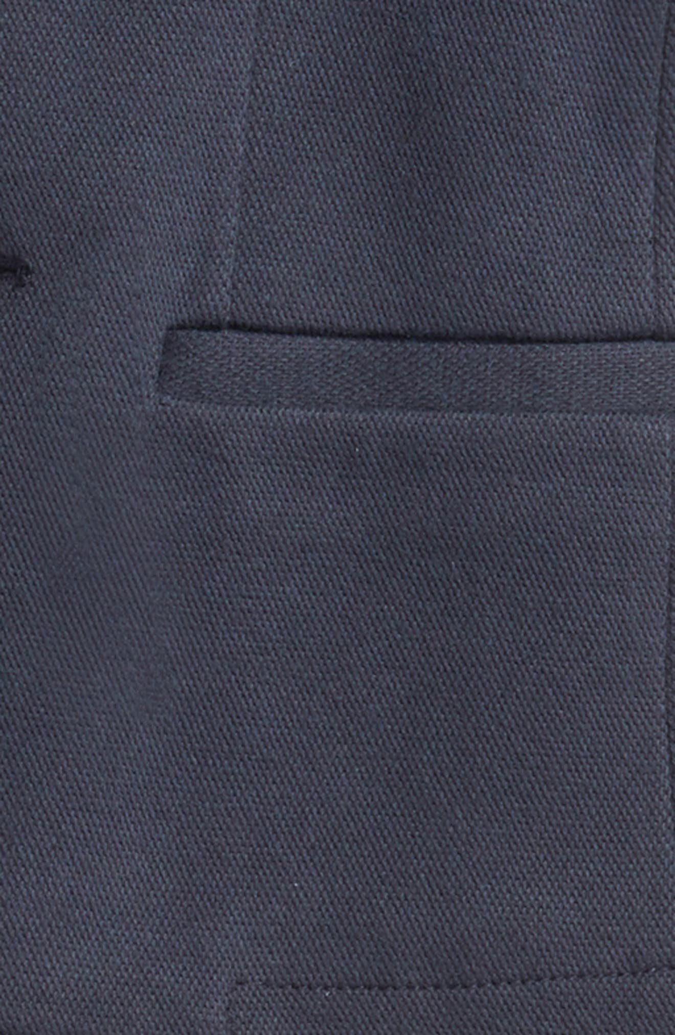 Piqué Blazer,                             Alternate thumbnail 2, color,                             Navy