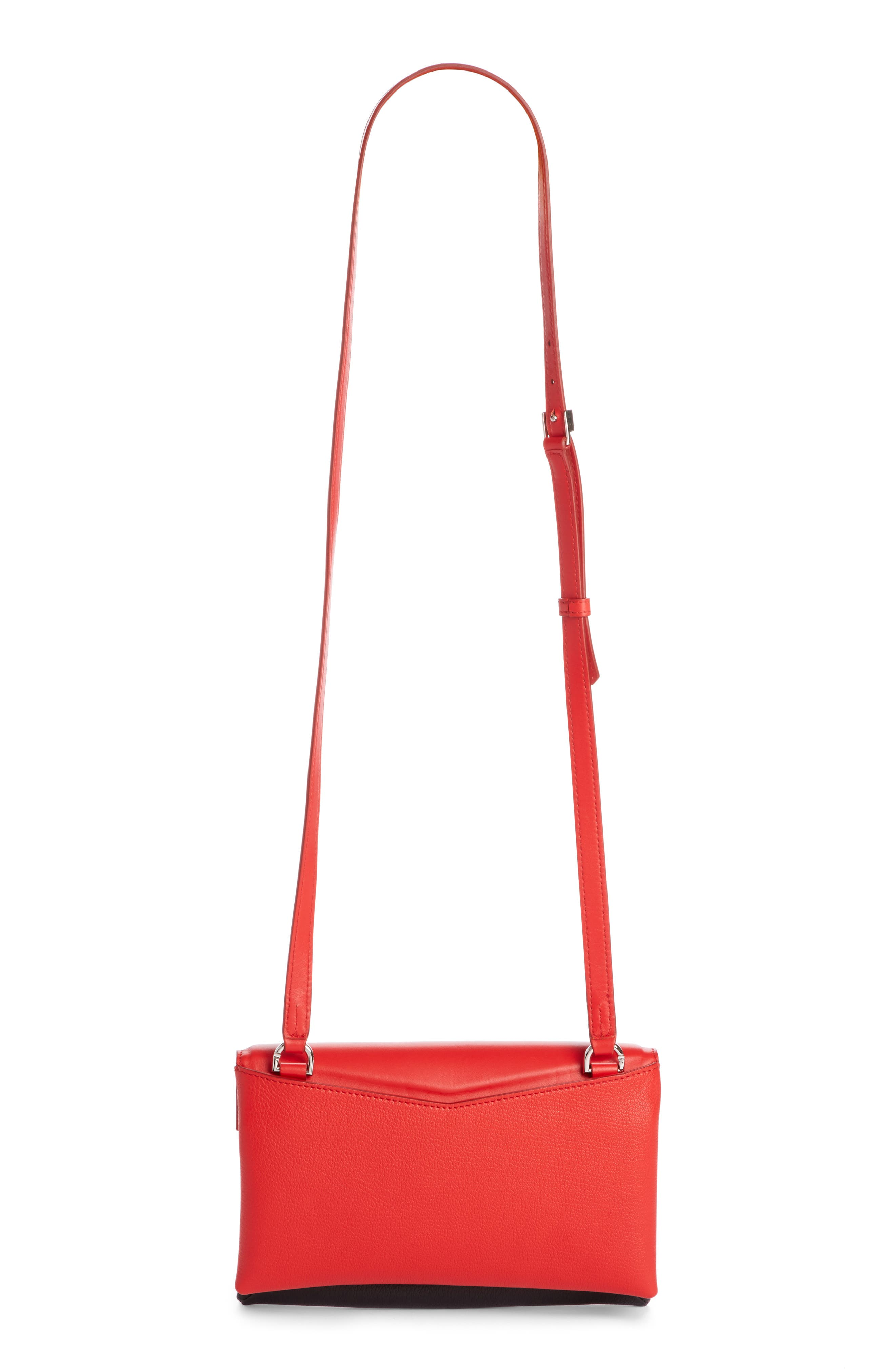 Duetto Tricolor Leather Flap Crossbody Bag,                             Alternate thumbnail 2, color,                             Red/ Black