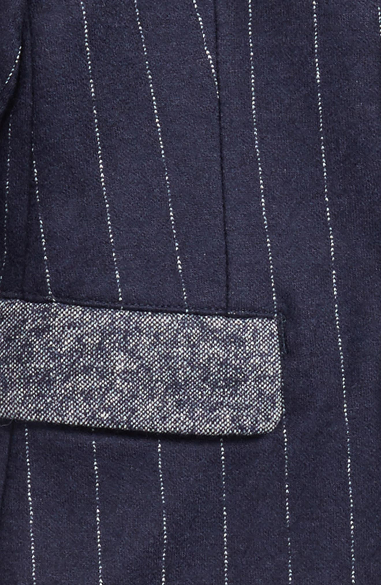 Pinstripe Blazer,                             Alternate thumbnail 2, color,                             Blue