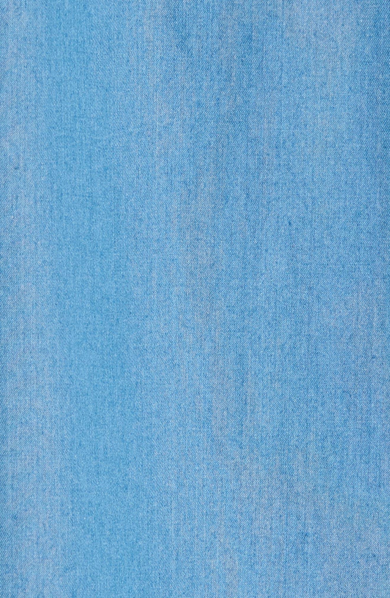 Reid Denim Sport Shirt,                             Alternate thumbnail 6, color,                             Blue