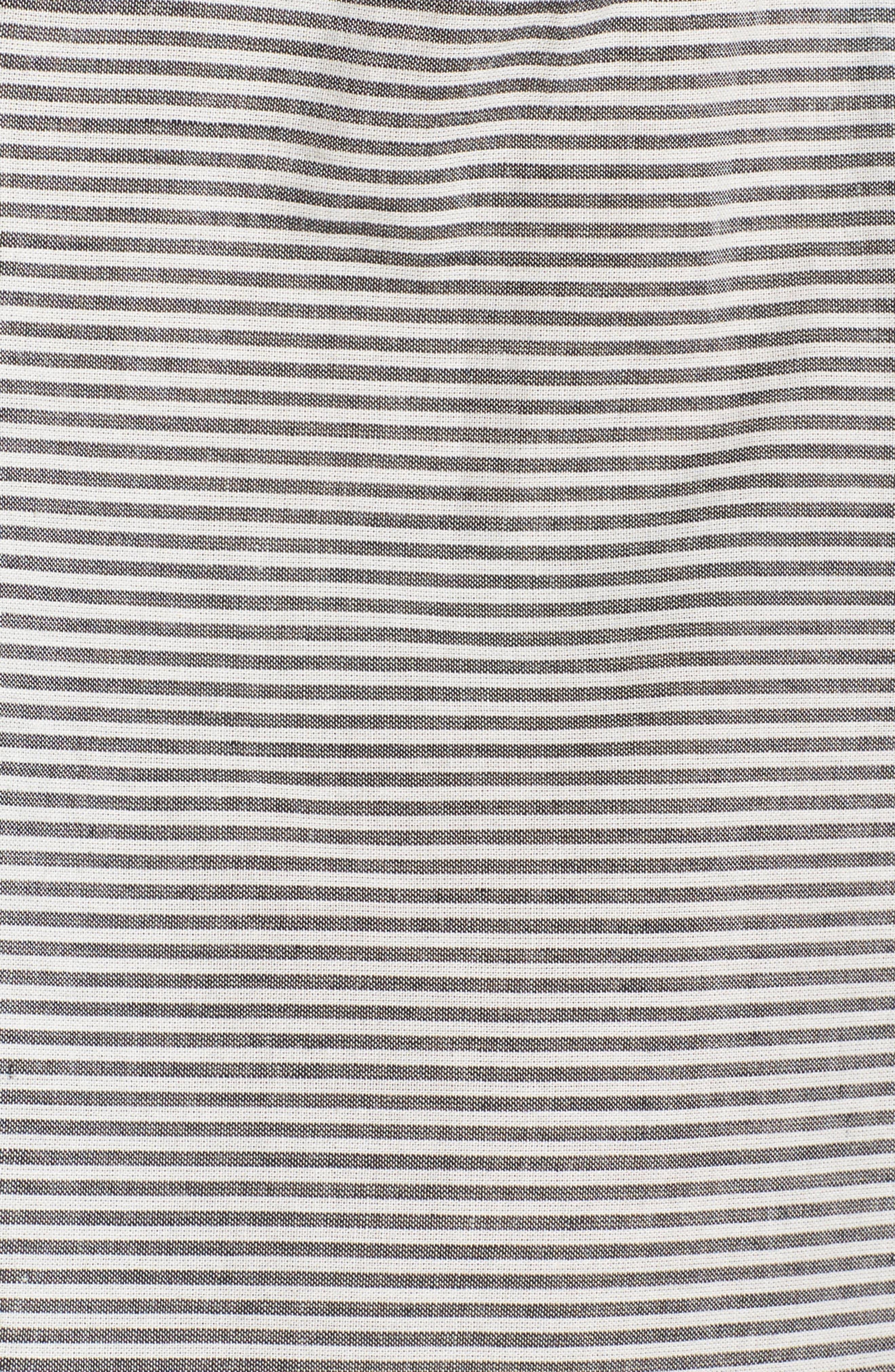 Clea Cold Shoulder Dress,                             Alternate thumbnail 5, color,                             Black/ White
