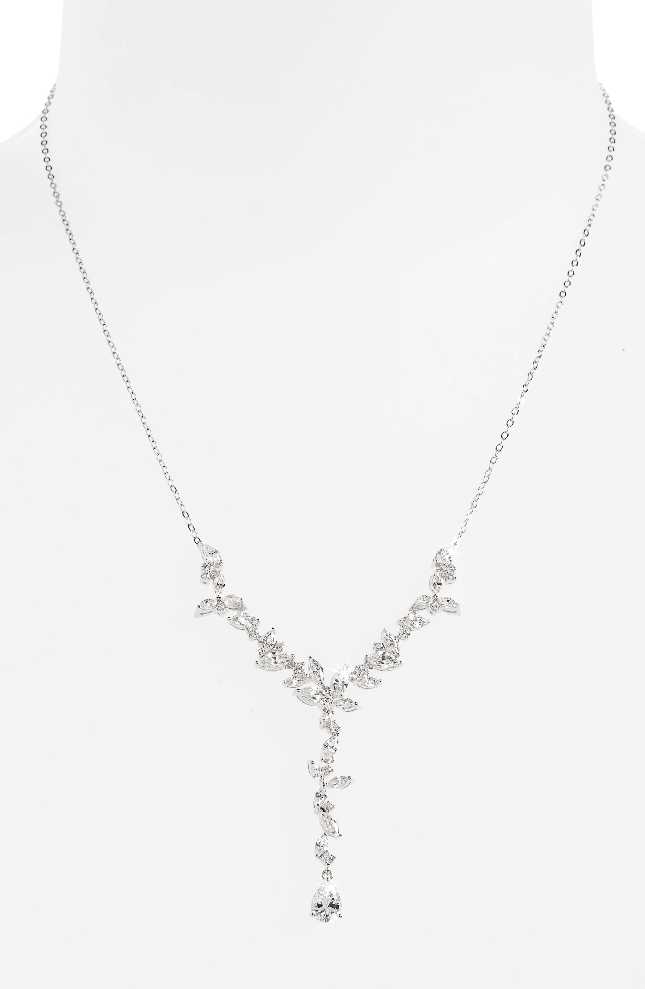 Nadri Papillon Crystal Y-Necklace