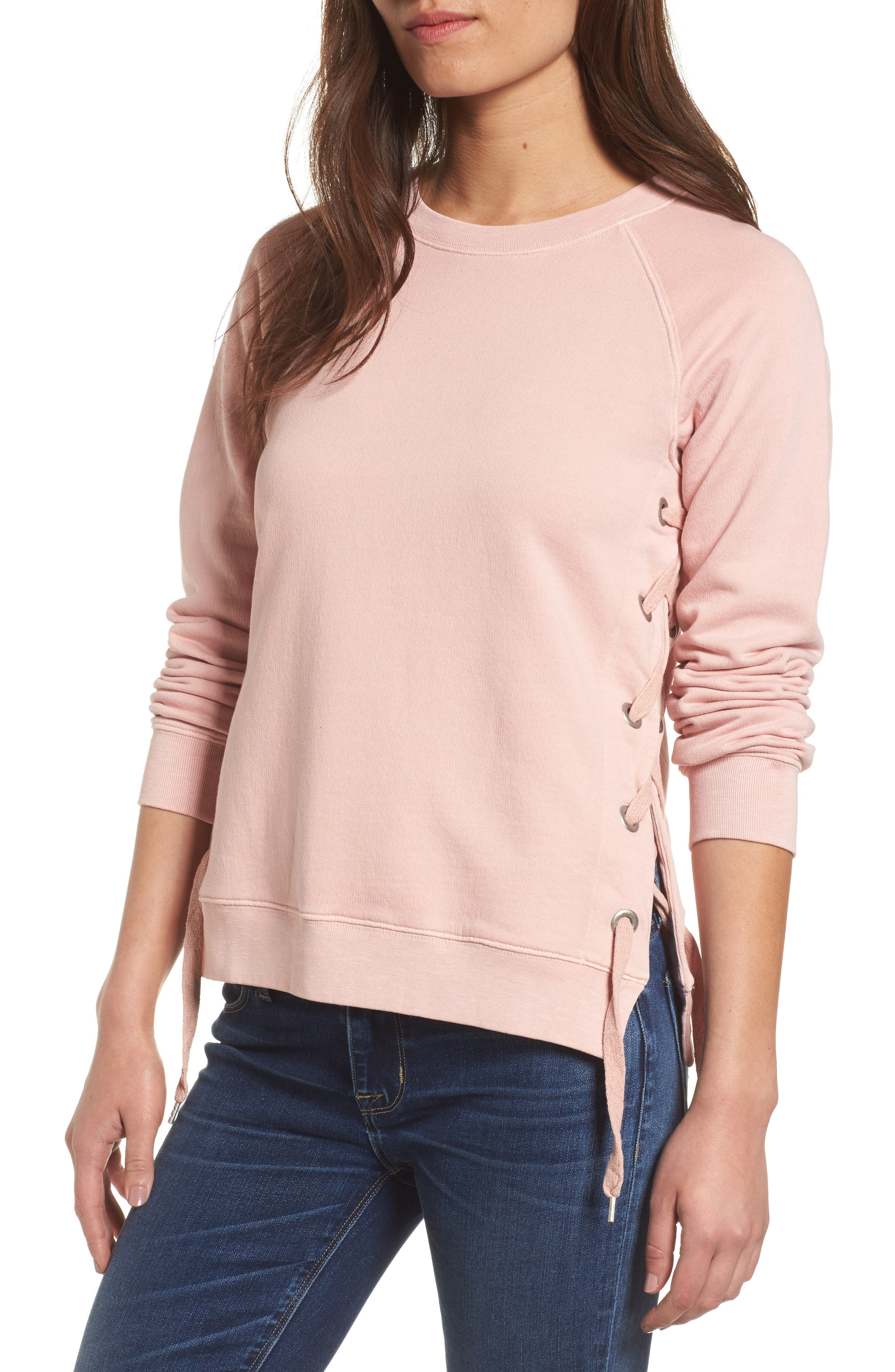 Main Image - Sincerely Jules Side-Lace Sweatshirt