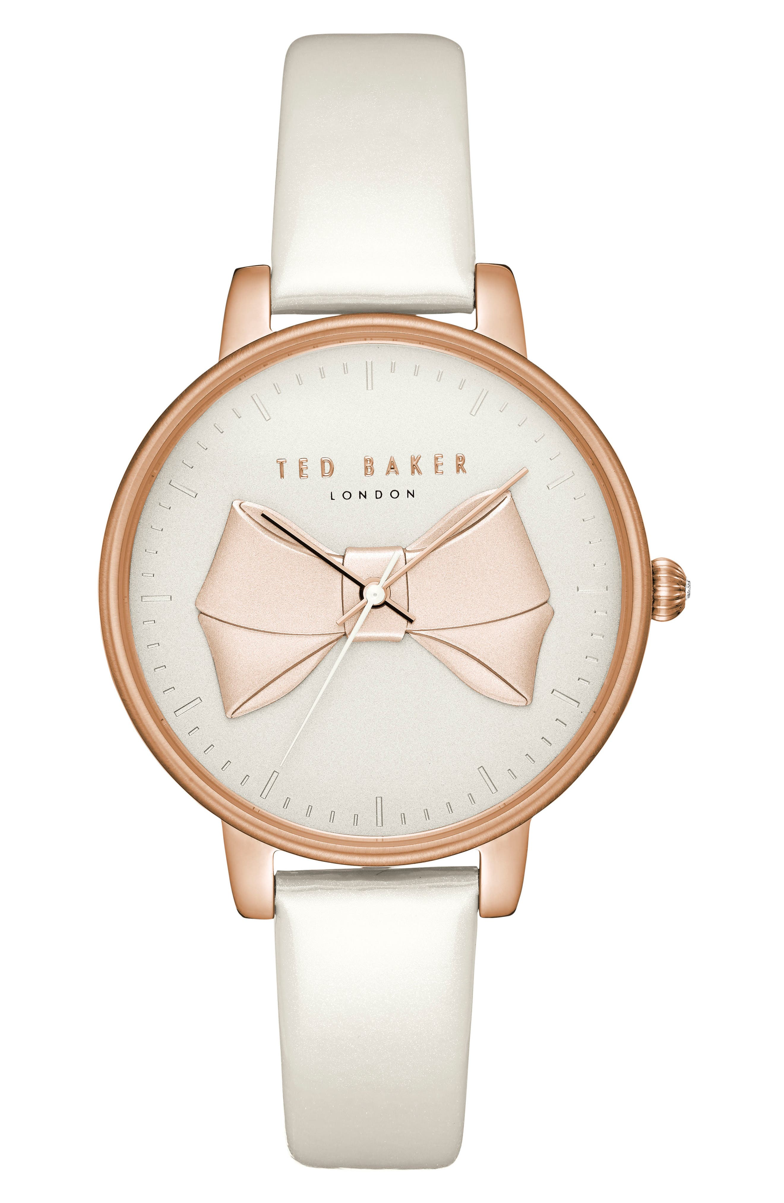 Main Image - Ted Baker London Brook Leather Strap Watch, 36mm