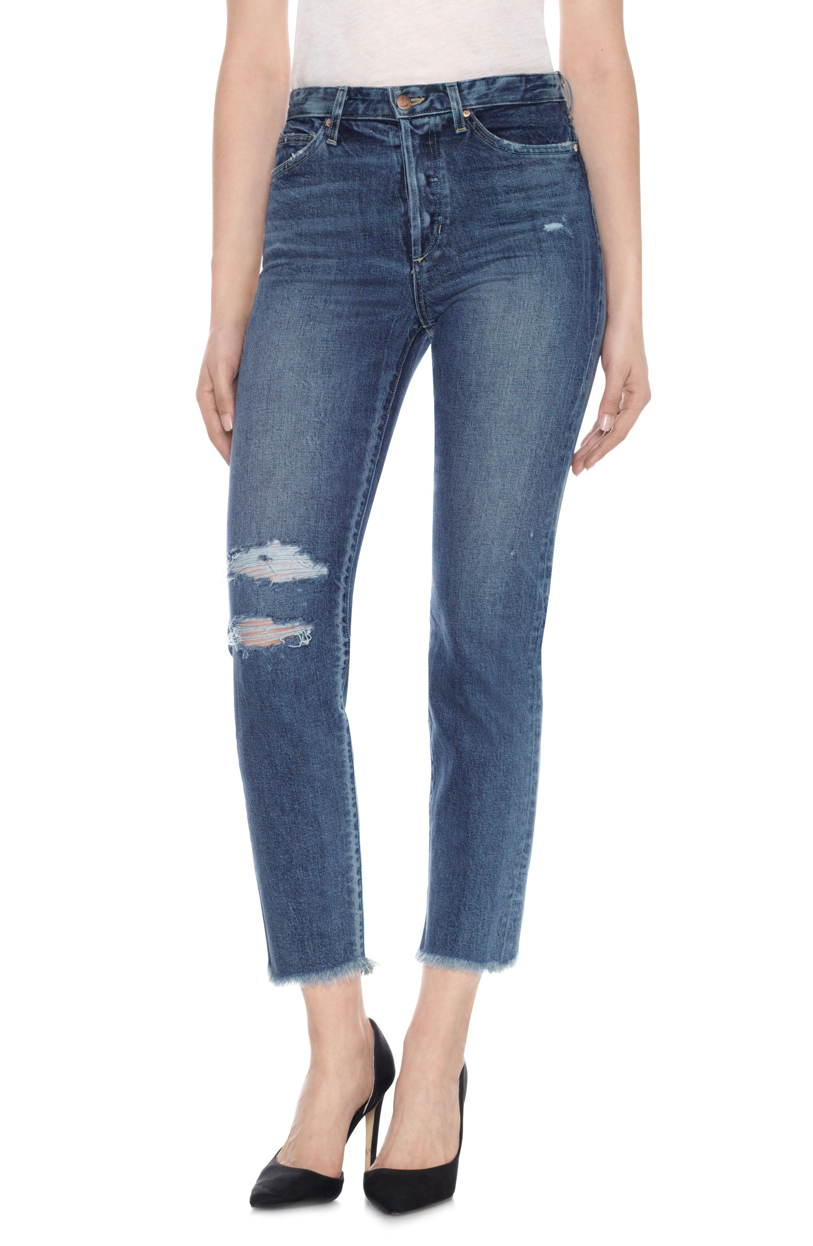 Main Image - Taylor Hill x Joe's Debbie High Rise Ankle Jeans (Julee)