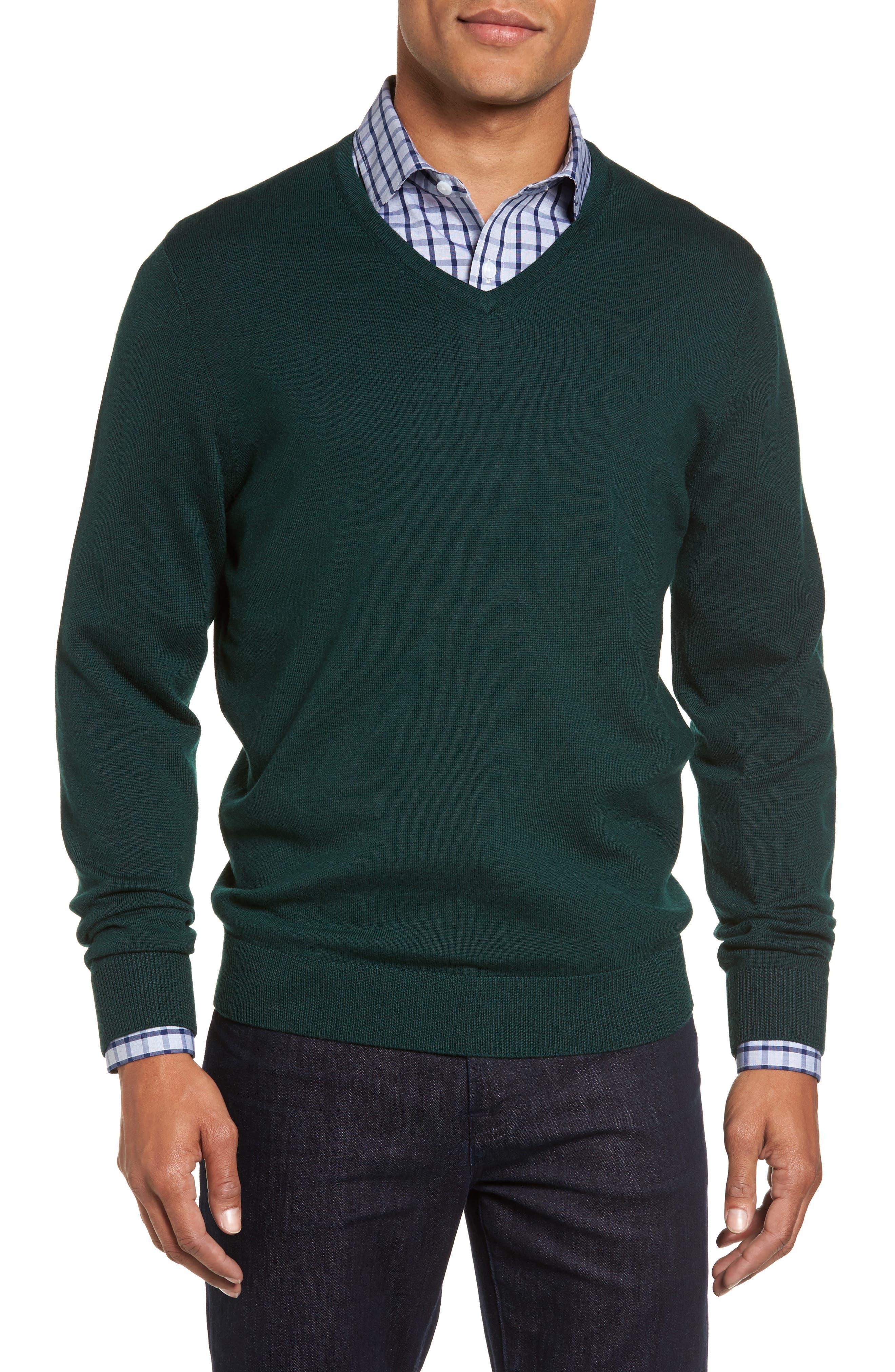 Nordstrom Men's Shop V-Neck Merino Wool Sweater (Regular & Tall)