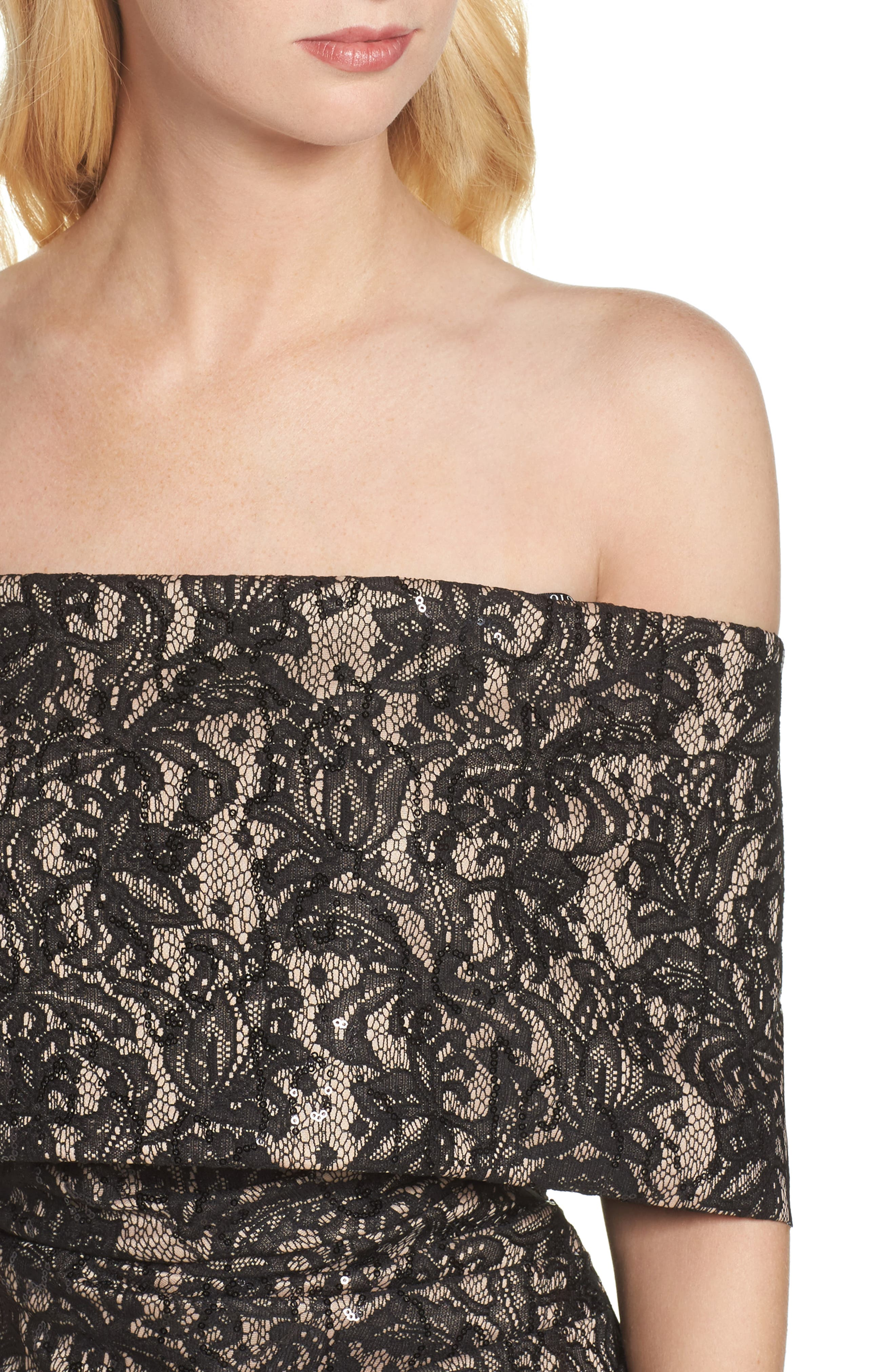 Alternate Image 4  - Vince Camuto Sequin Off the Shoulder Gown