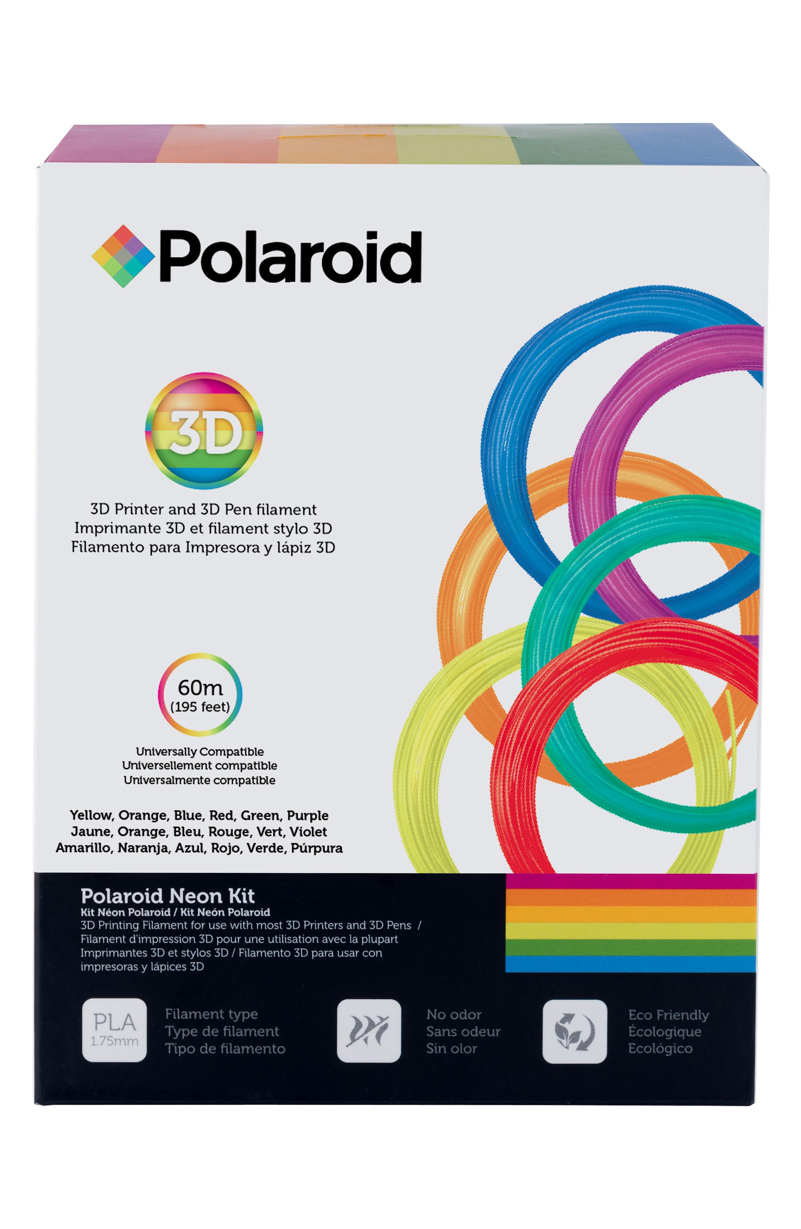 3D Neon Filament Kit,                             Main thumbnail 1, color,                             Multi