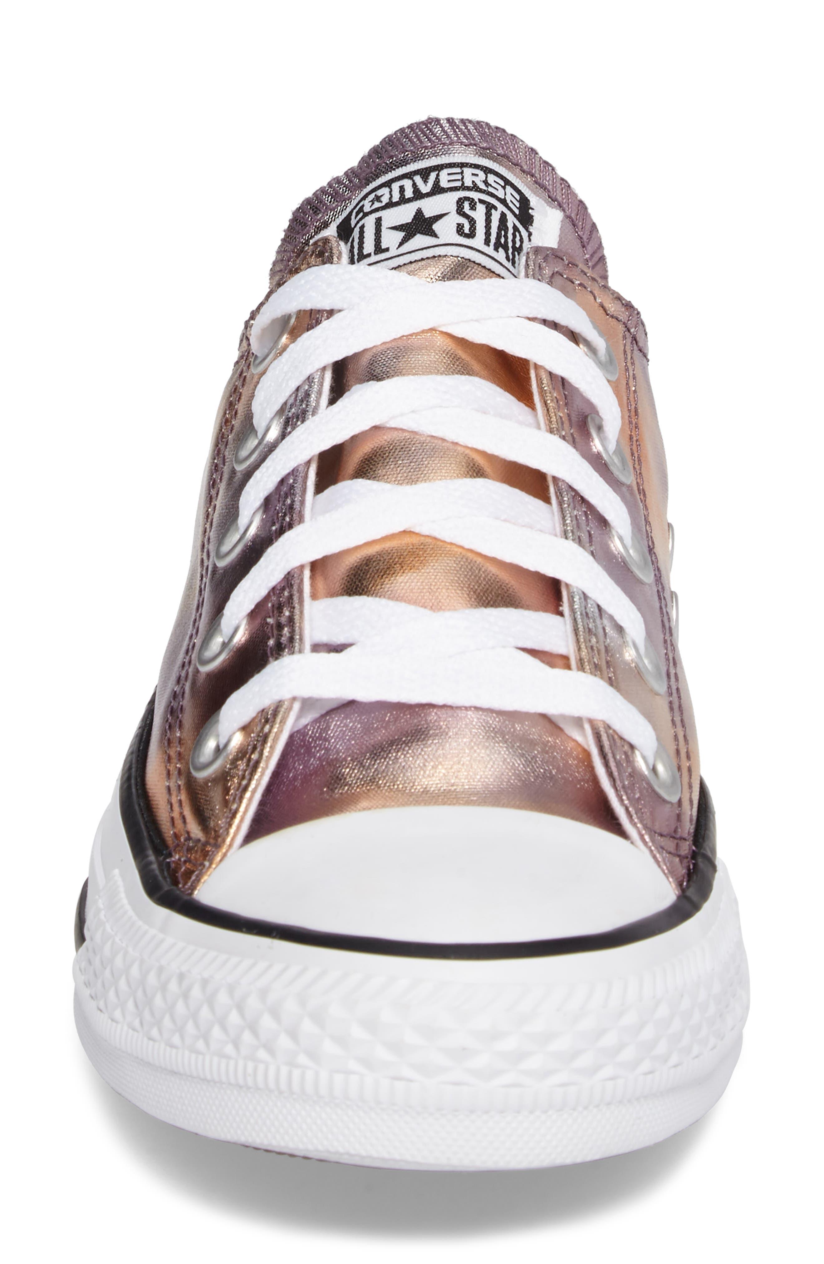 Chuck Taylor<sup>®</sup> All Star<sup>®</sup> Seasonal Metallic Ox Low Top Sneaker,                             Alternate thumbnail 4, color,                             Dusk Pink