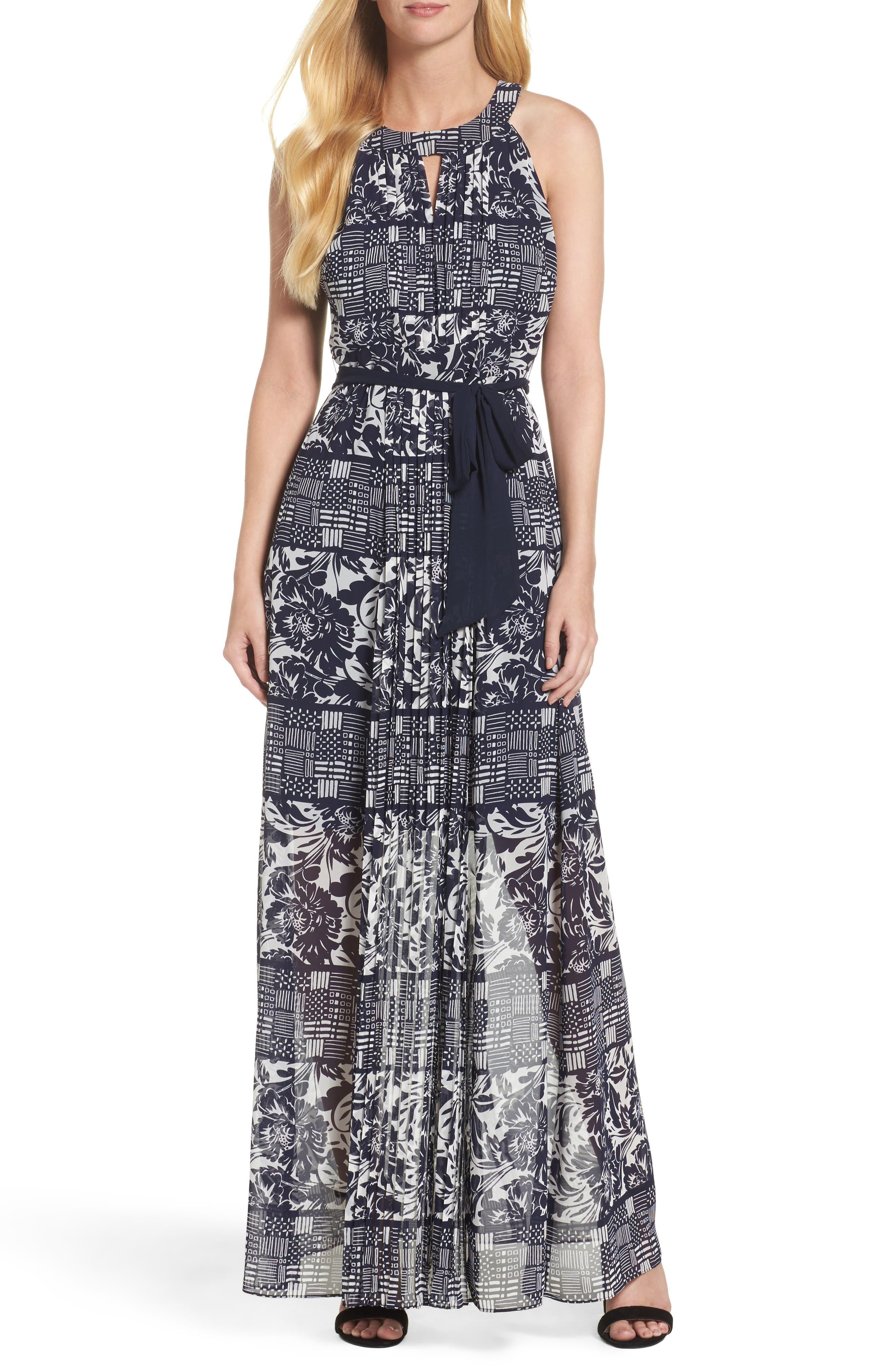 VINCE CAMUTO Chiffon Maxi Dress