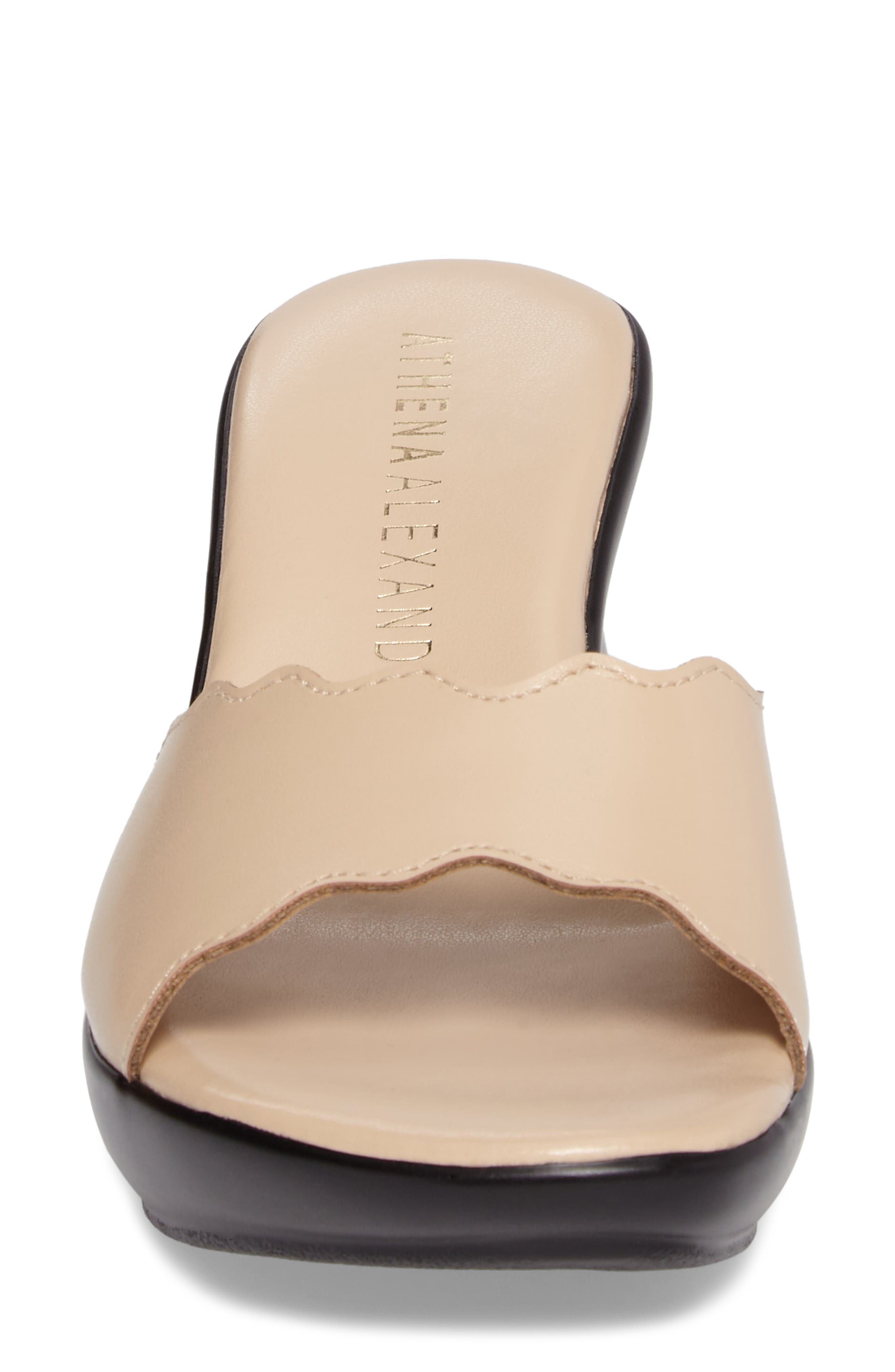 Novva Sandal,                             Alternate thumbnail 4, color,                             Nude Faux Leather