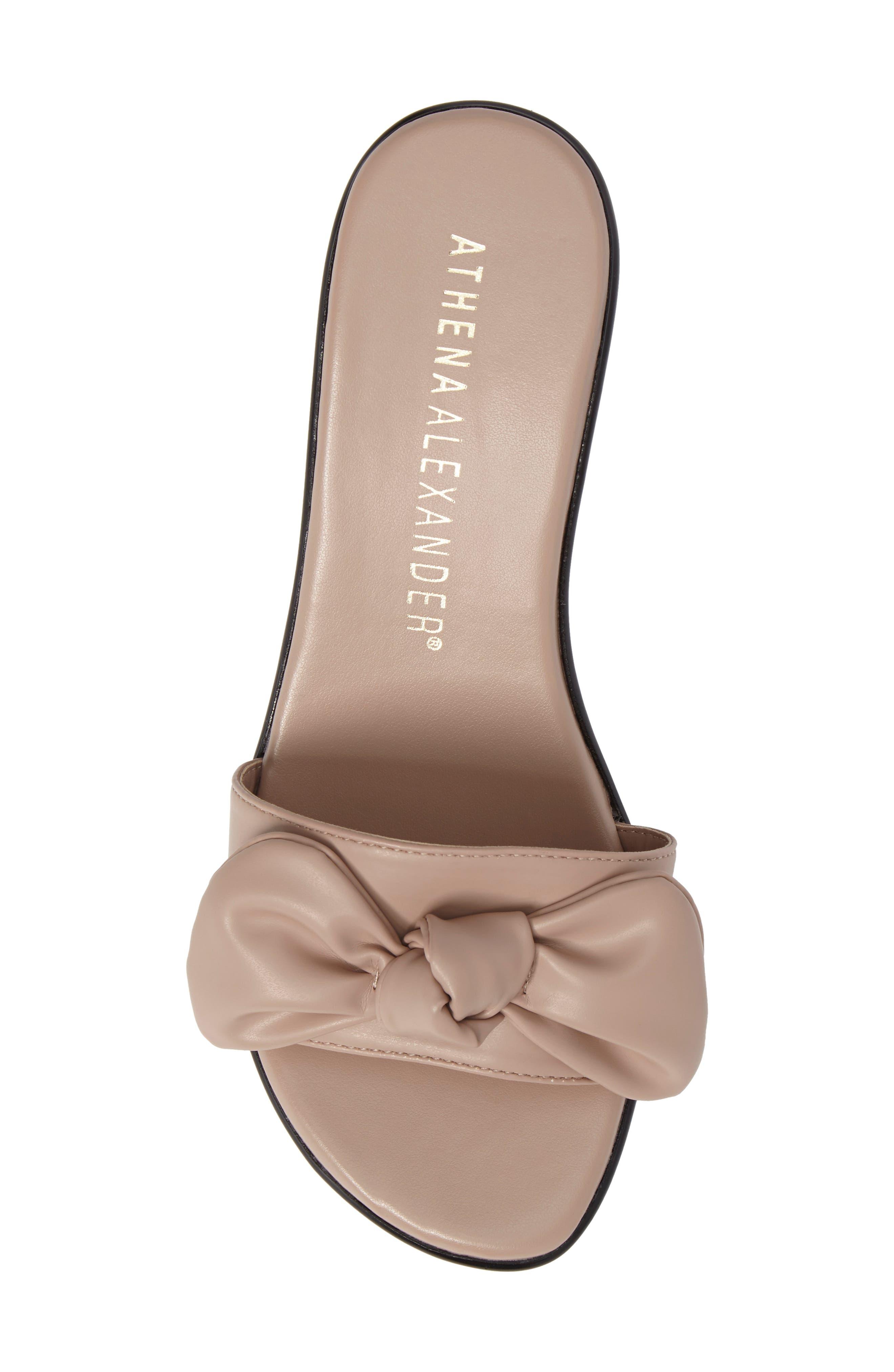 Pattye Knotted Slide Sandal,                             Alternate thumbnail 5, color,                             Blush Faux Leather