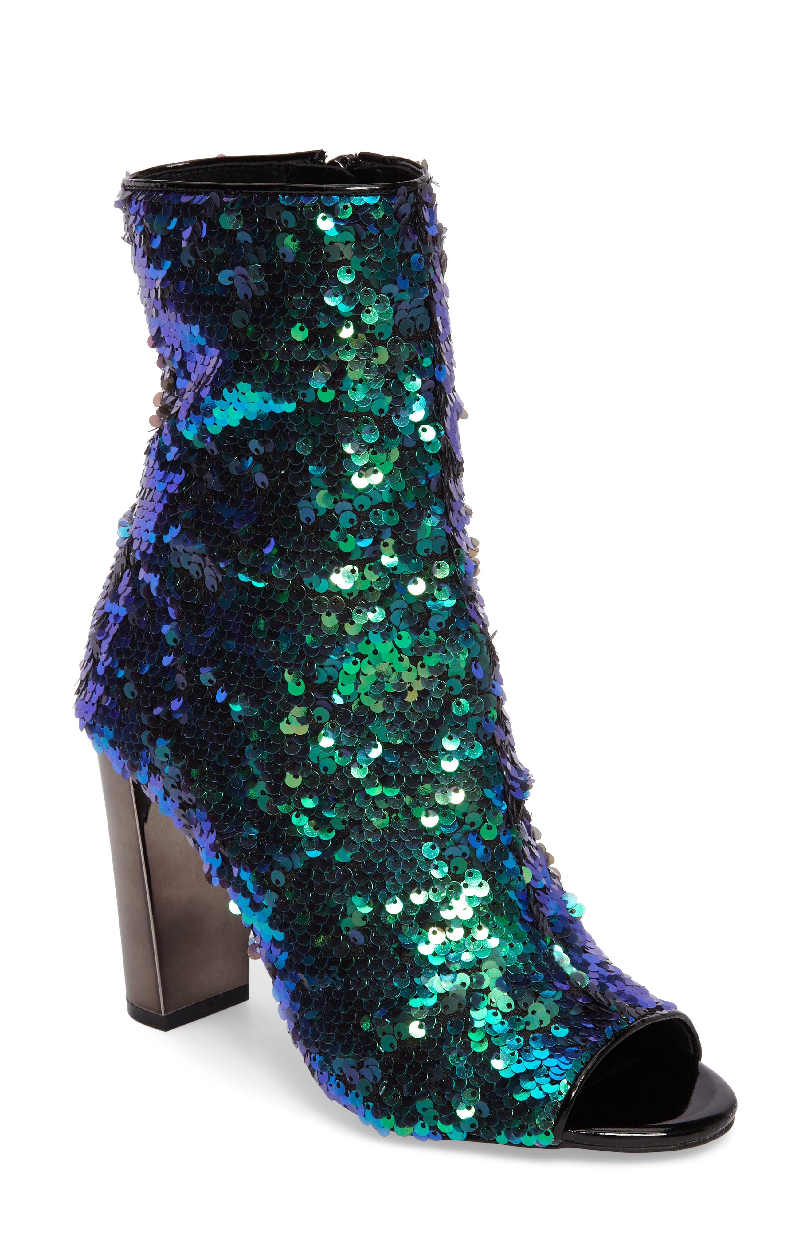 Elara Open-Toe Bootie,                         Main,                         color, Mermaid