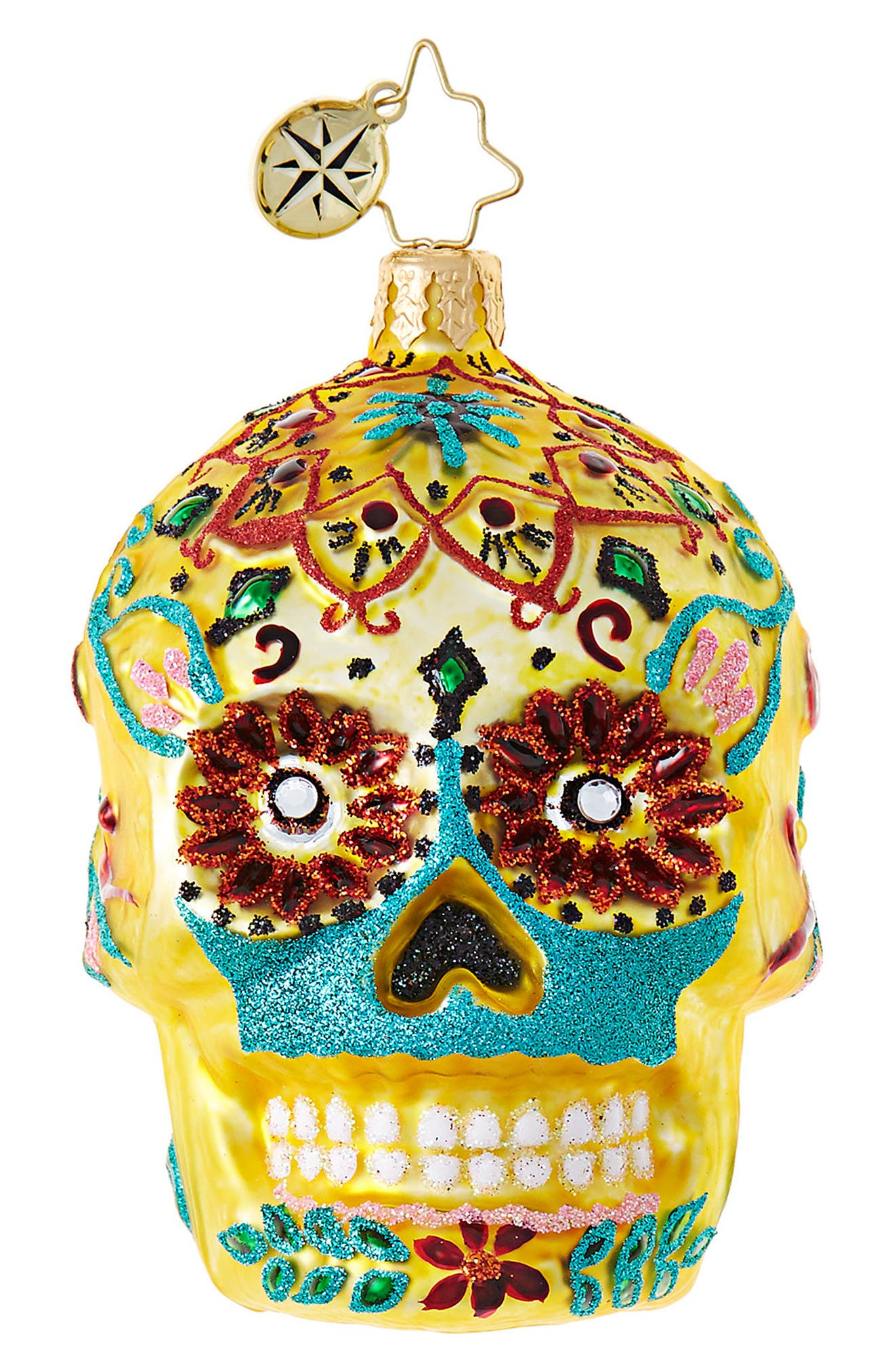 Christopher Radko Calavera de Oro Ornament