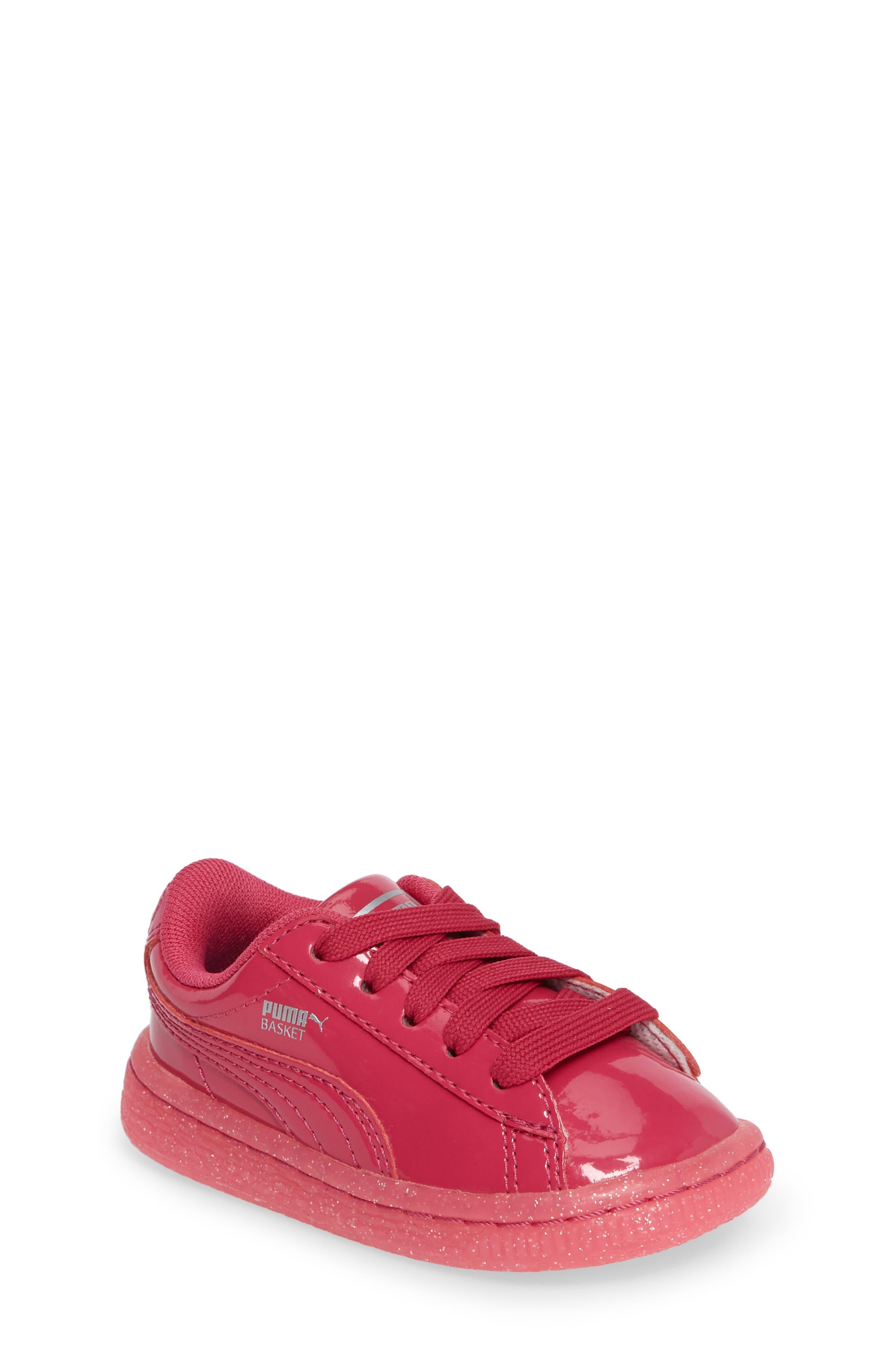 Basket Iced Glitter Sneaker,                             Main thumbnail 1, color,                             Beetroot Purple