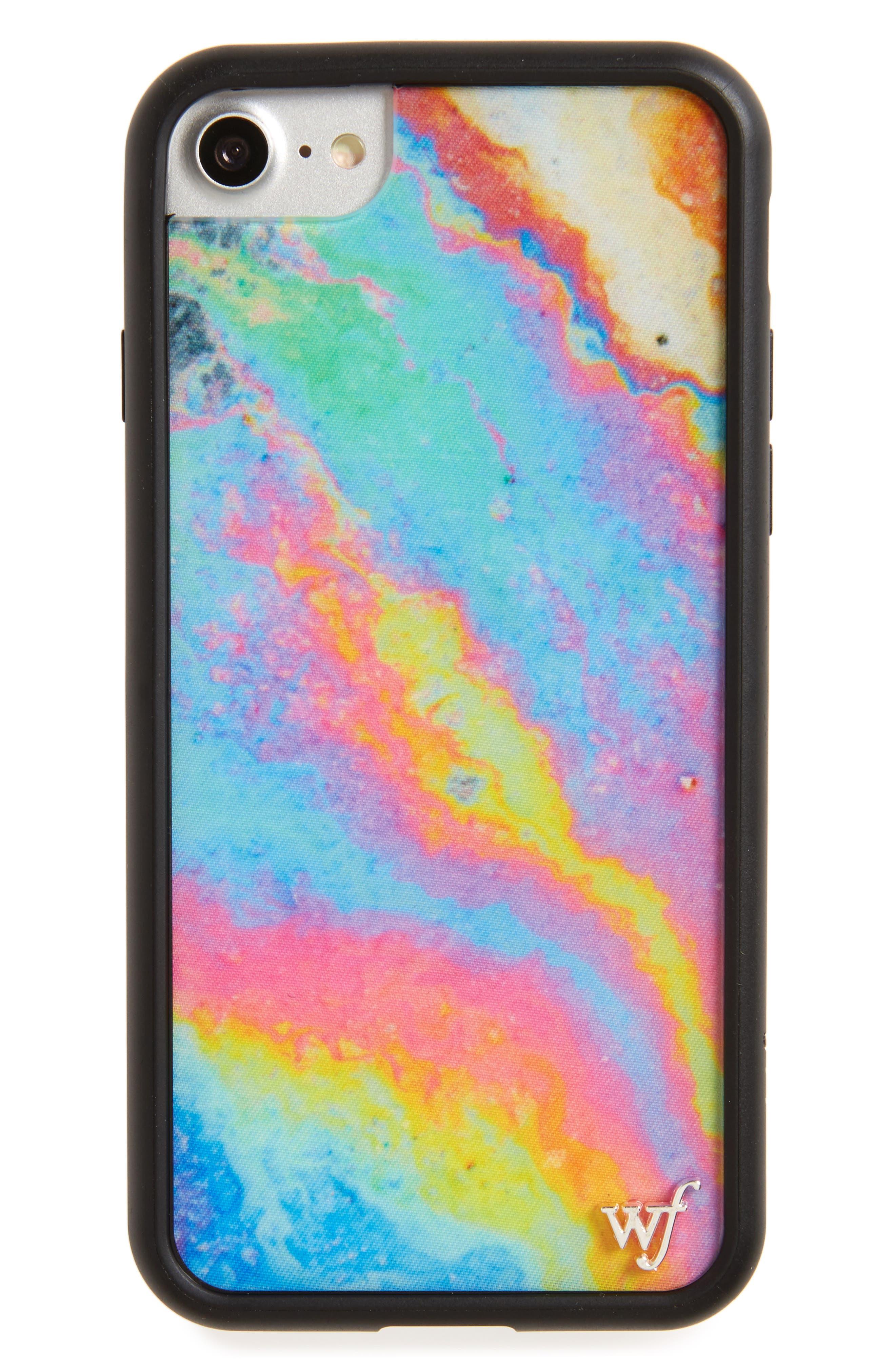 Main Image - Wildflower Iridescent iPhone 7 Case