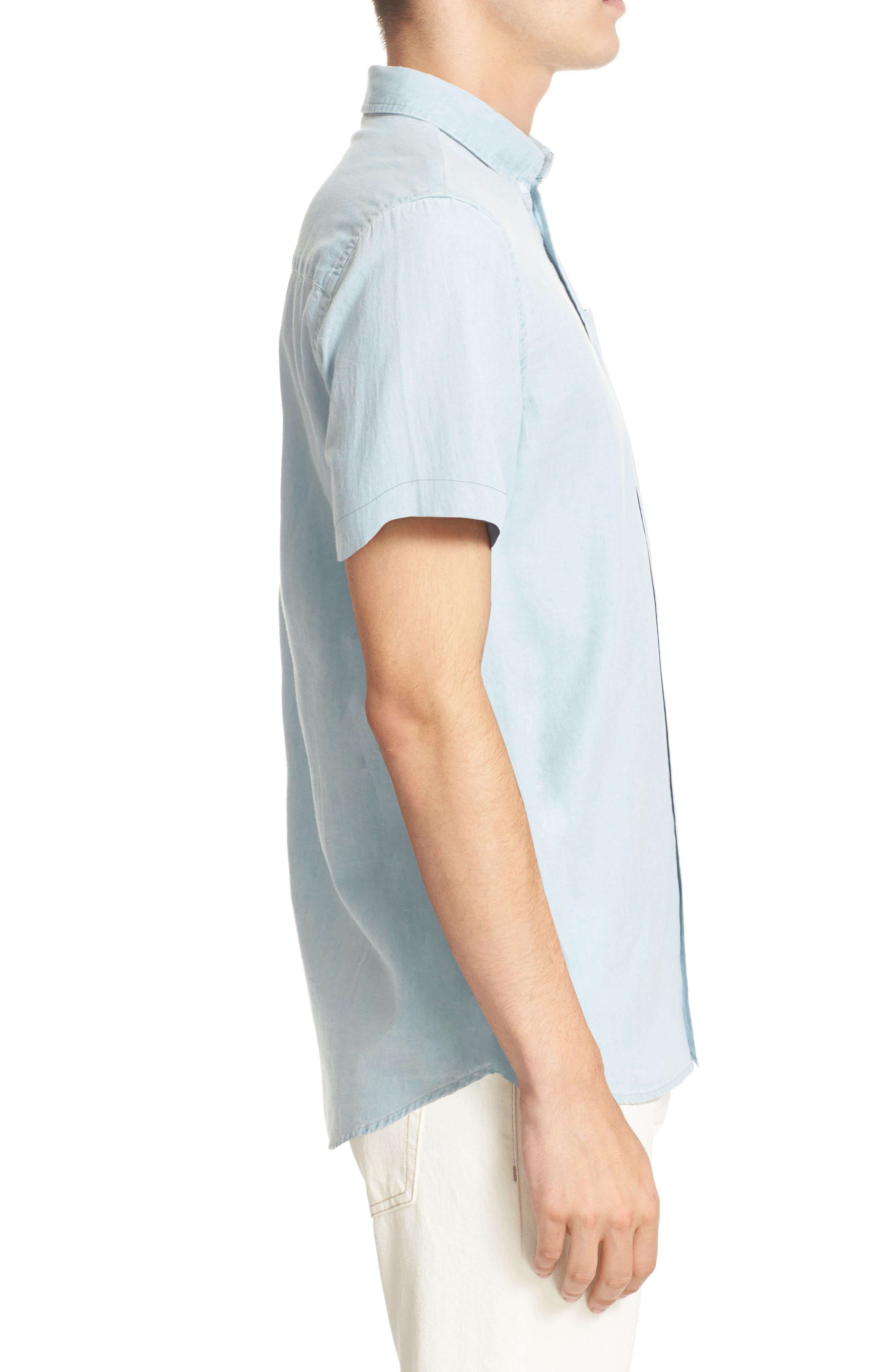 Alternate Image 3  - Saturdays NYC Esquina Slim Fit Denim Sport Shirt