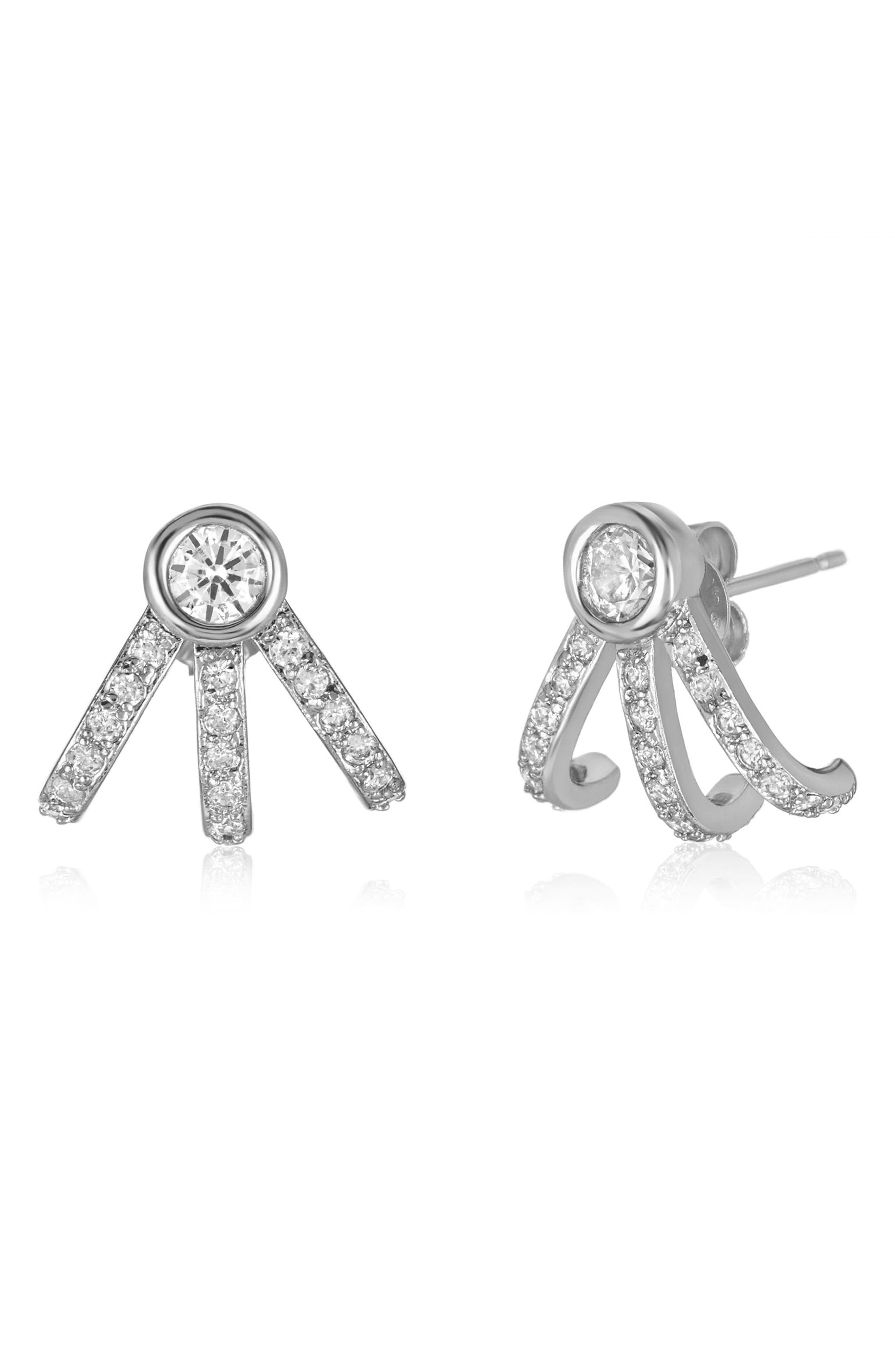 Alternate Image 2  - Melinda Maria Mini Huggie Earrings