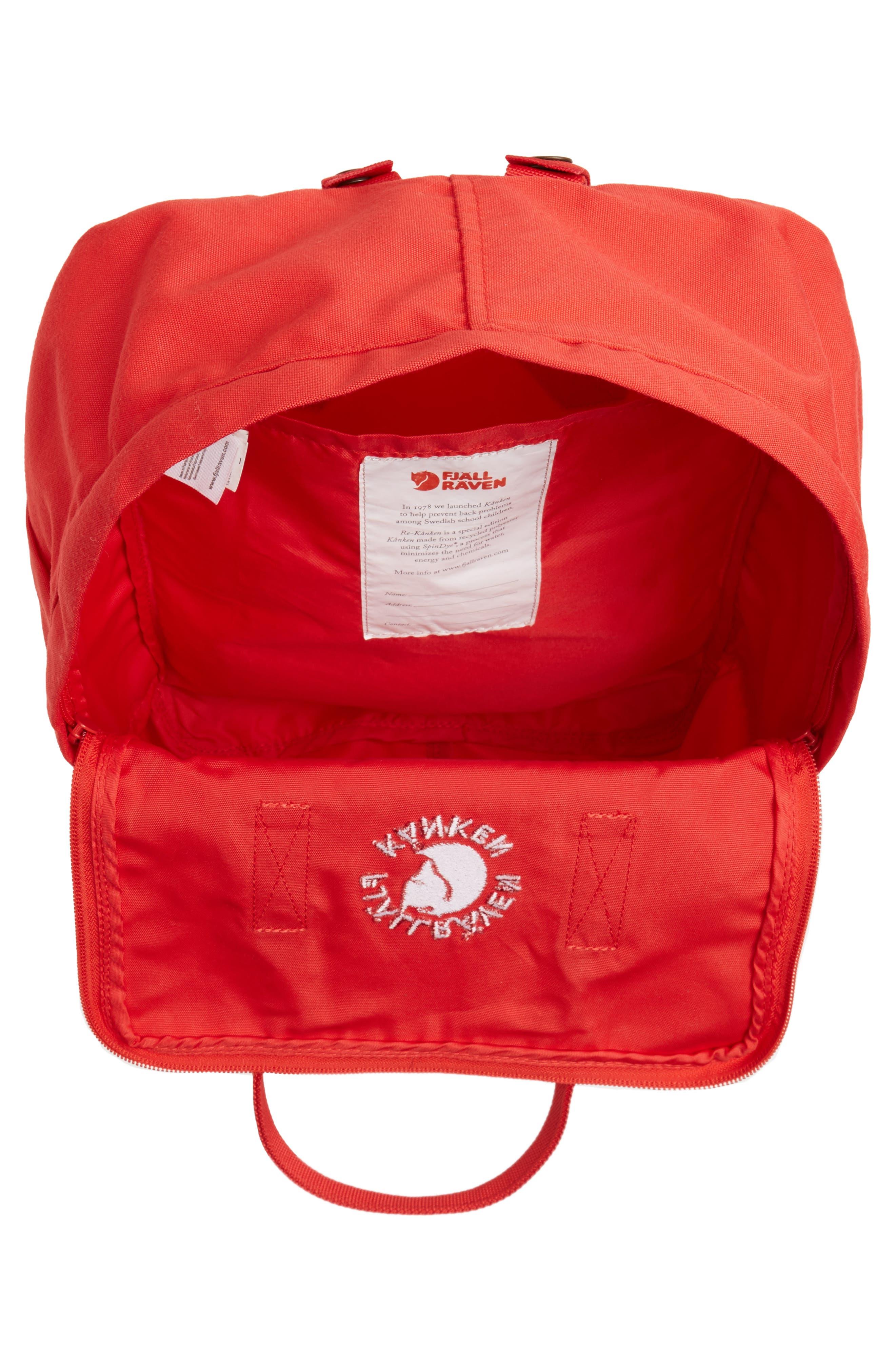 Re-Kånken Water Resistant Backpack,                             Alternate thumbnail 4, color,                             Red
