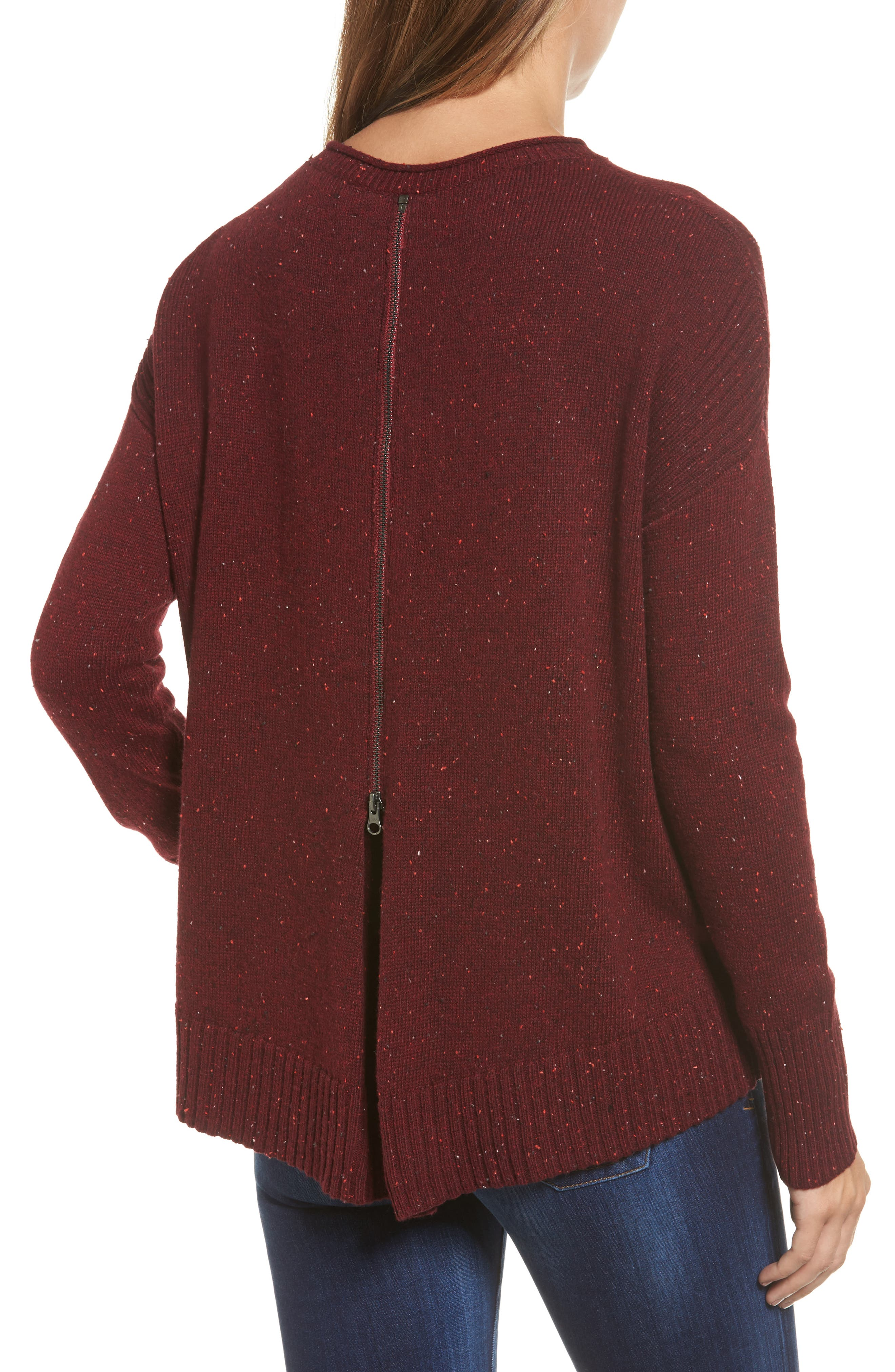 Alternate Image 2  - Caslon® Back Zip Pullover