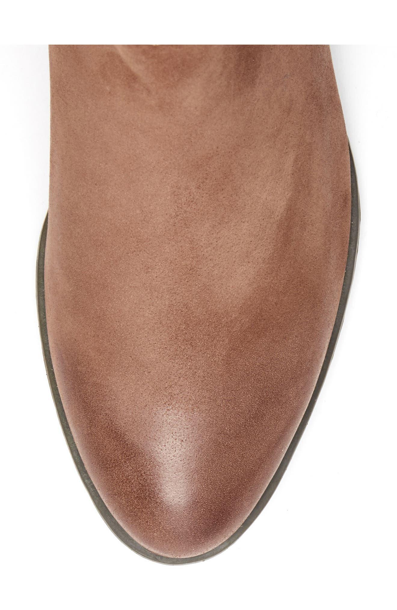 'Valli' Waterproof  Bootie,                             Alternate thumbnail 5, color,                             Cognac Nubuck Leather