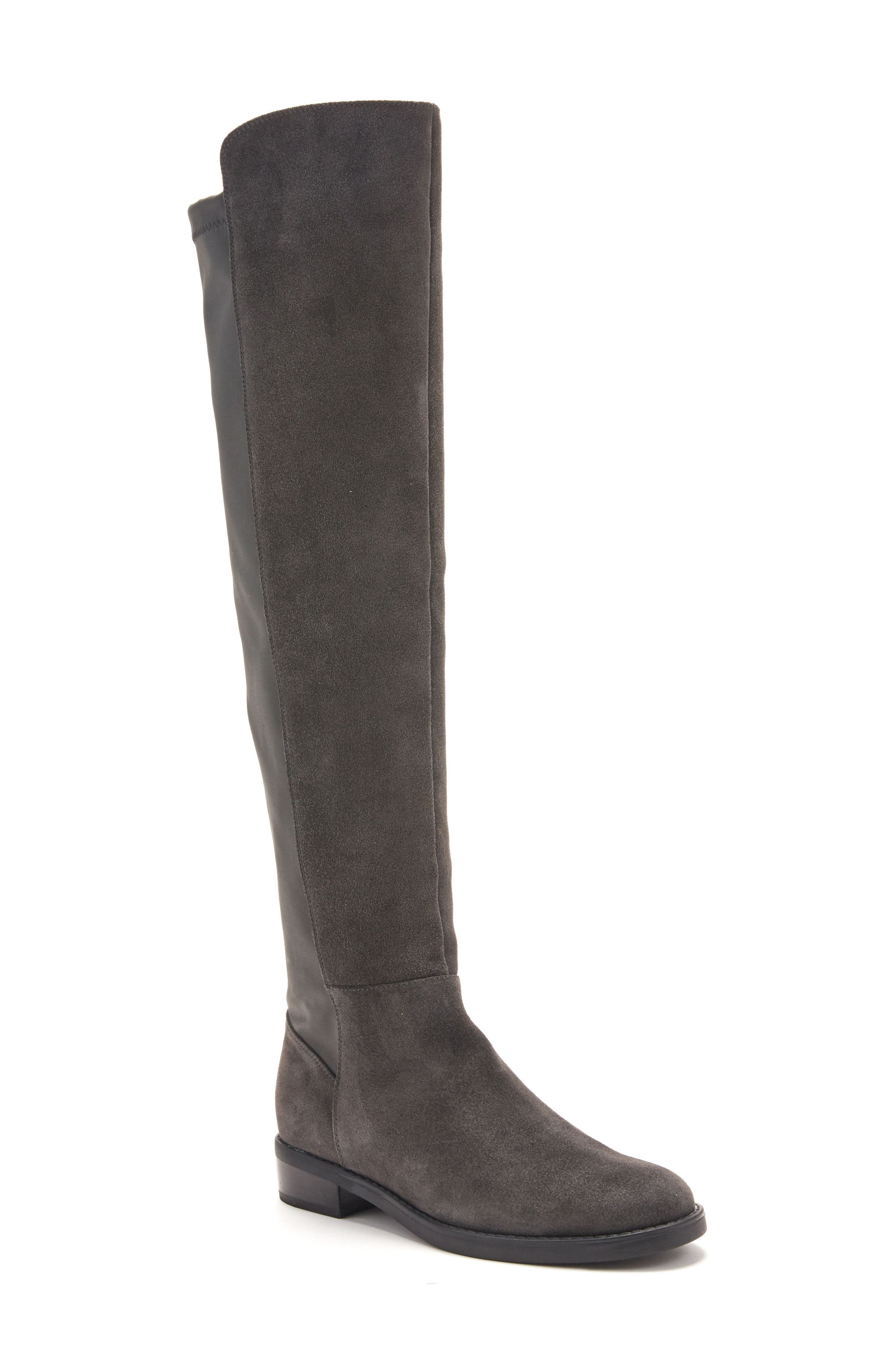 Olivia Knee High Boot,                             Main thumbnail 1, color,                             Grey Suede