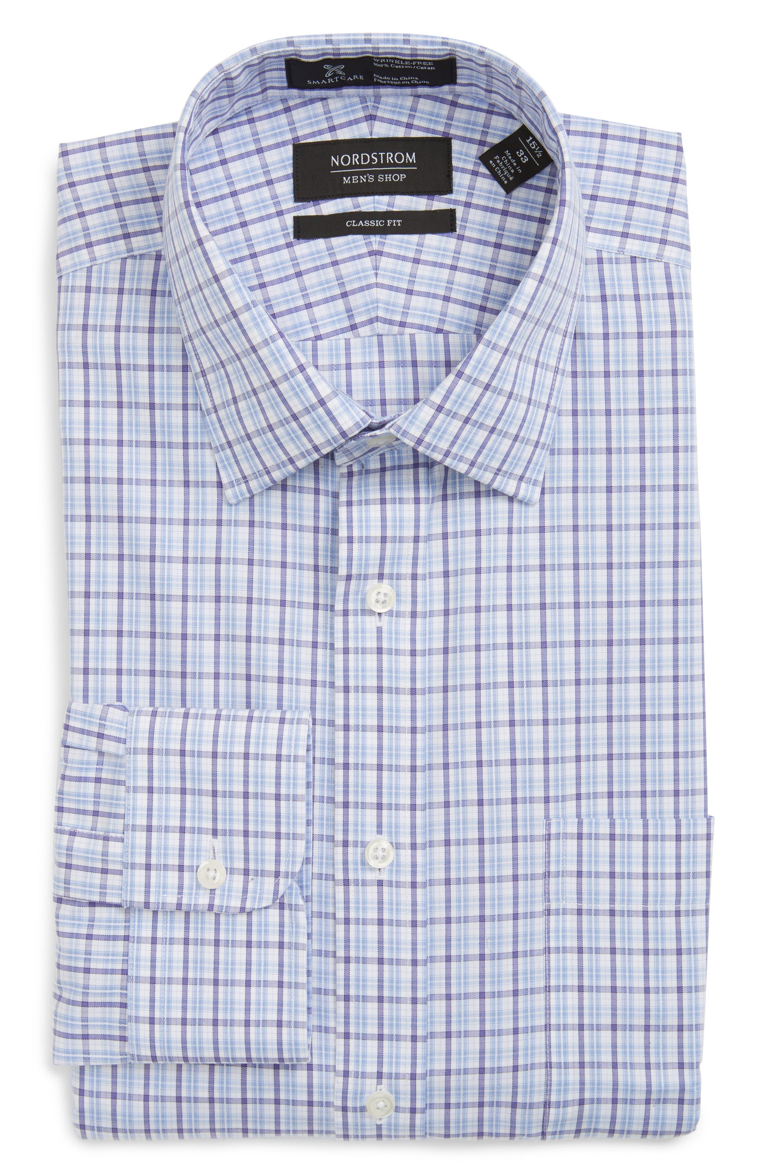 Nordstrom Men's Shop Smartcare™ Classic Fit Plaid Dress Shirt