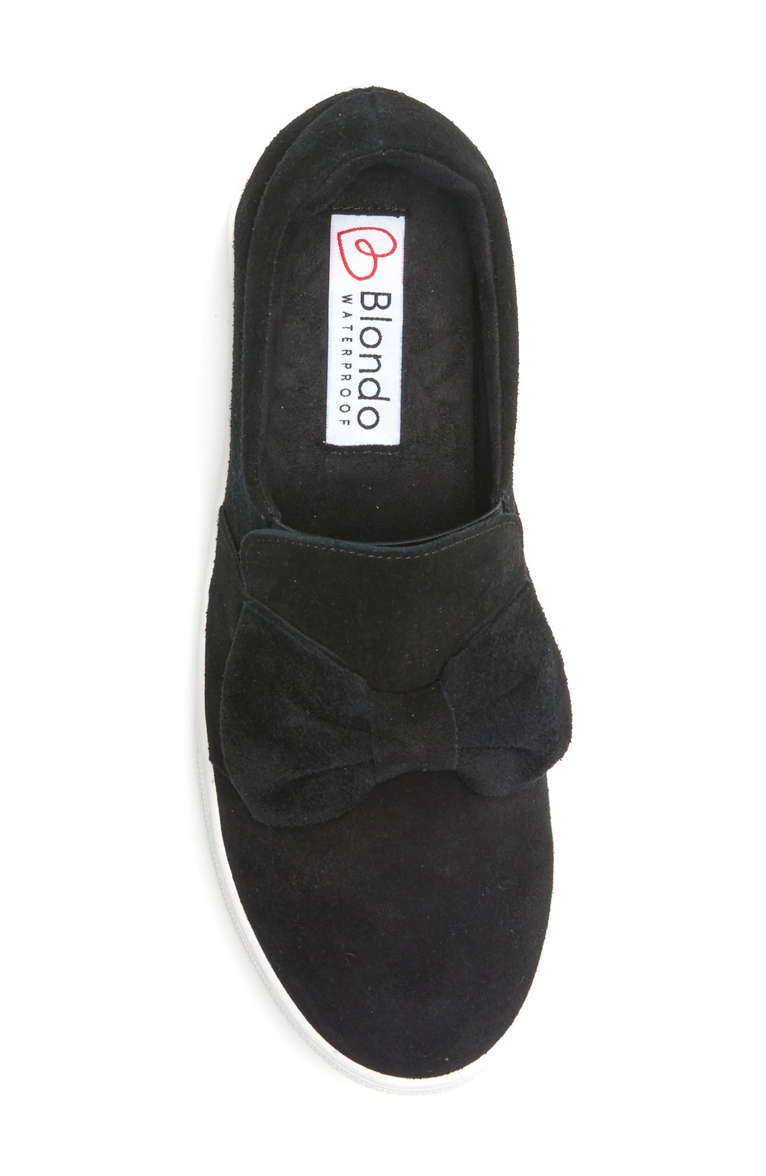 Gigi Sneaker,                             Alternate thumbnail 5, color,                             Black Suede
