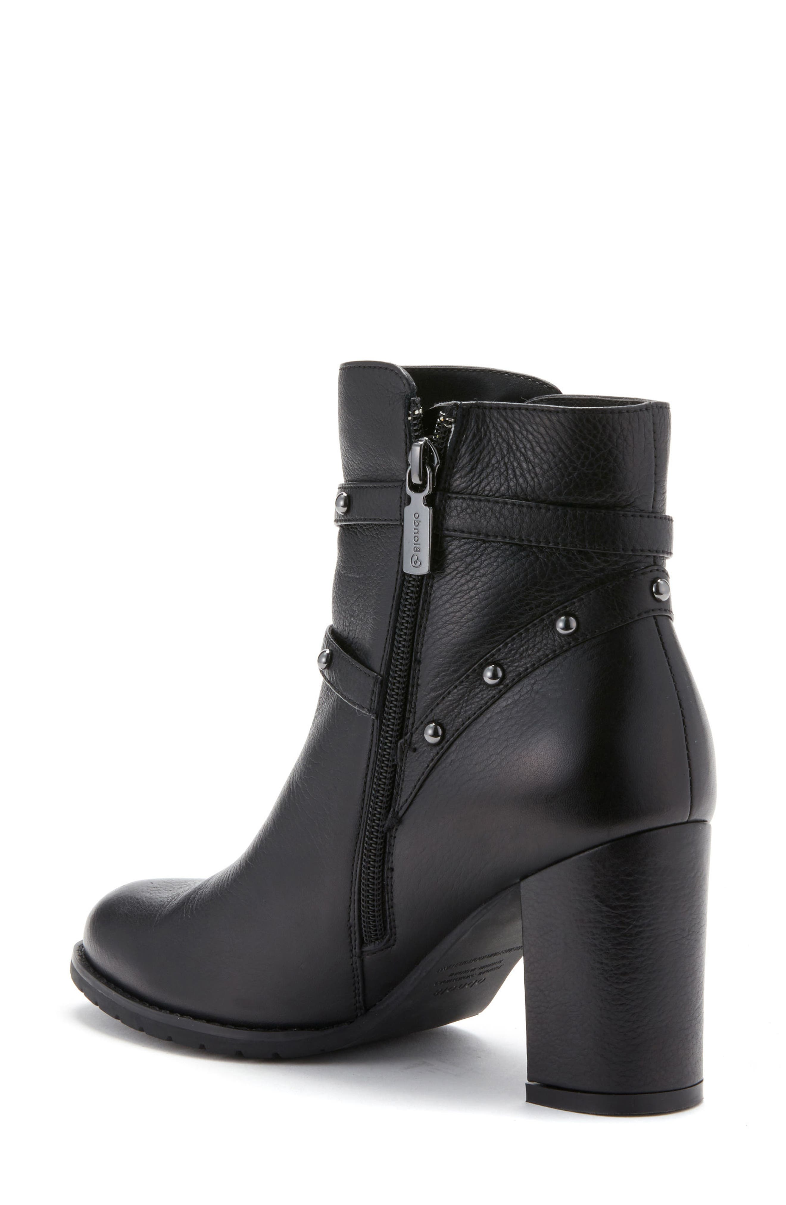 Analise Waterproof Boot,                             Alternate thumbnail 2, color,                             Black Leather
