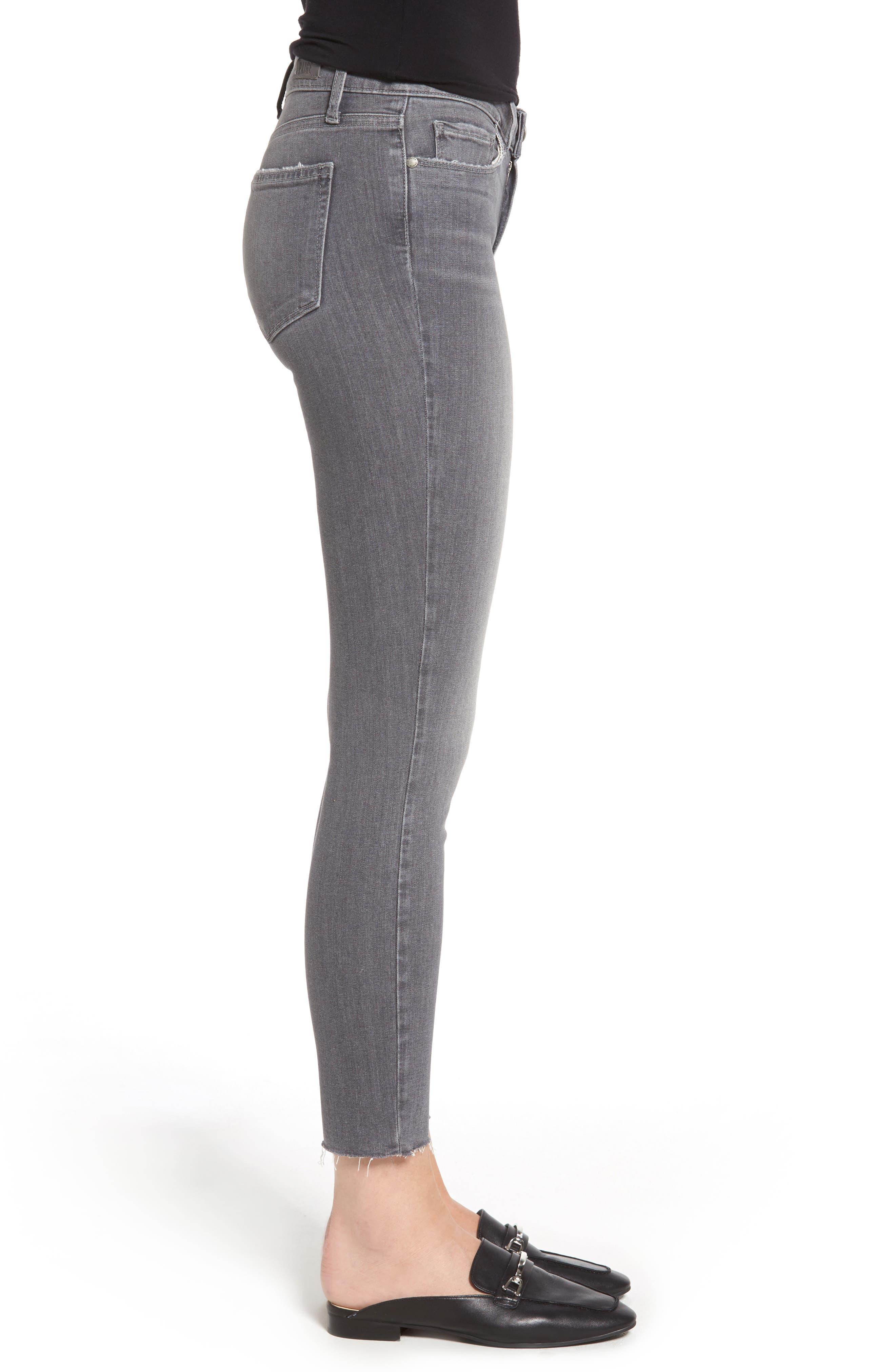 Alternate Image 4  - PAIGE Verdugo Raw Hem Ankle Skinny Jeans (Sea Salt)