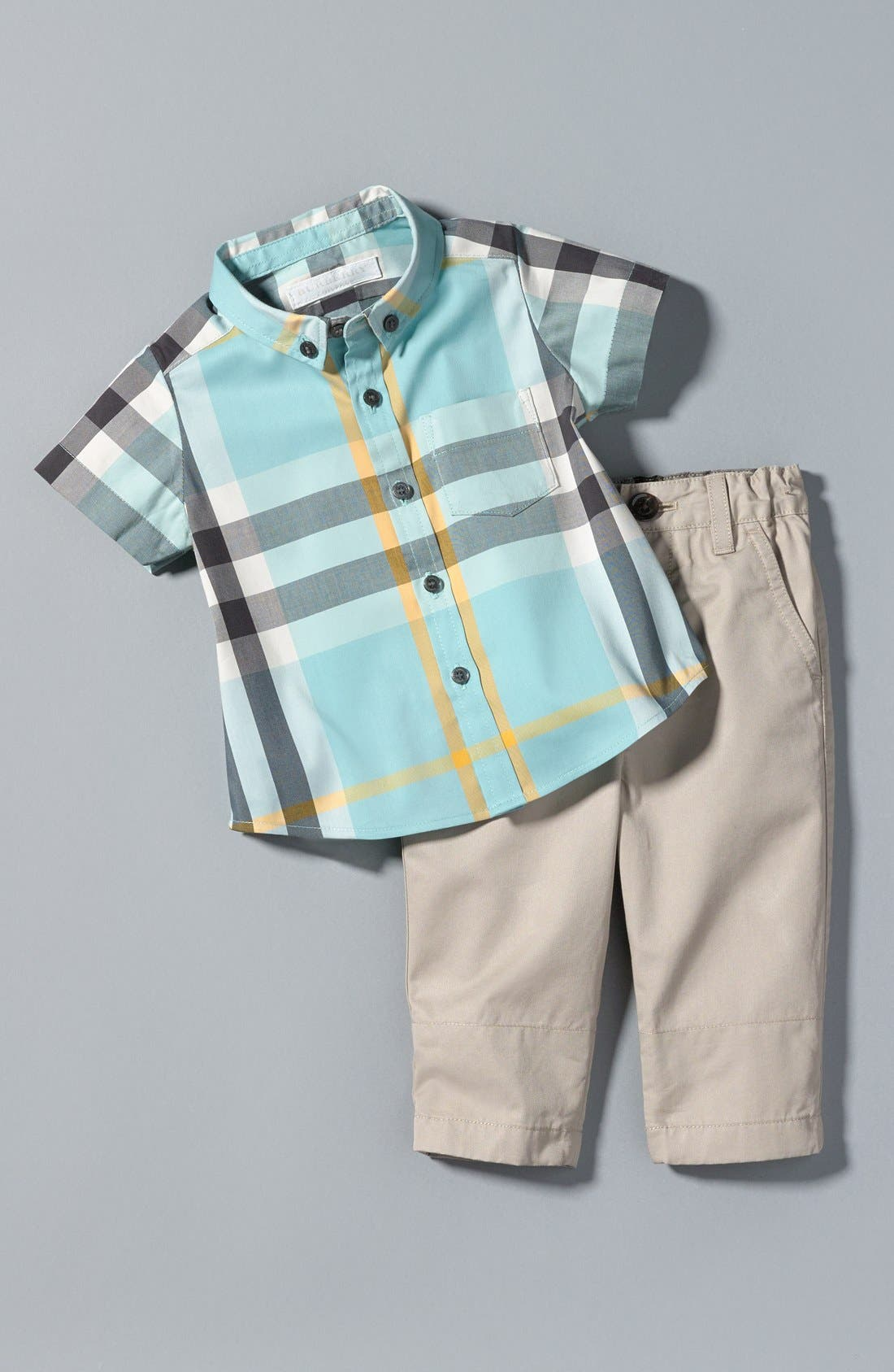 Alternate Image 3  - Burberry 'Ricky' Check Lined Roll Cuff Pants (Baby Boys)