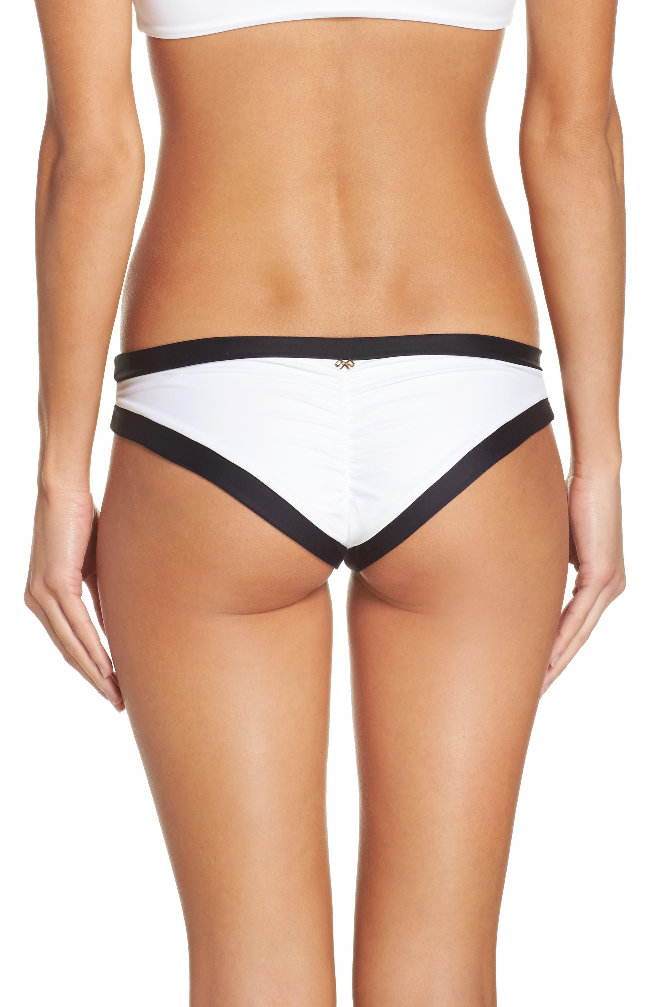 Sporty Teeny Bikini Bottoms,                             Alternate thumbnail 2, color,                             Tux