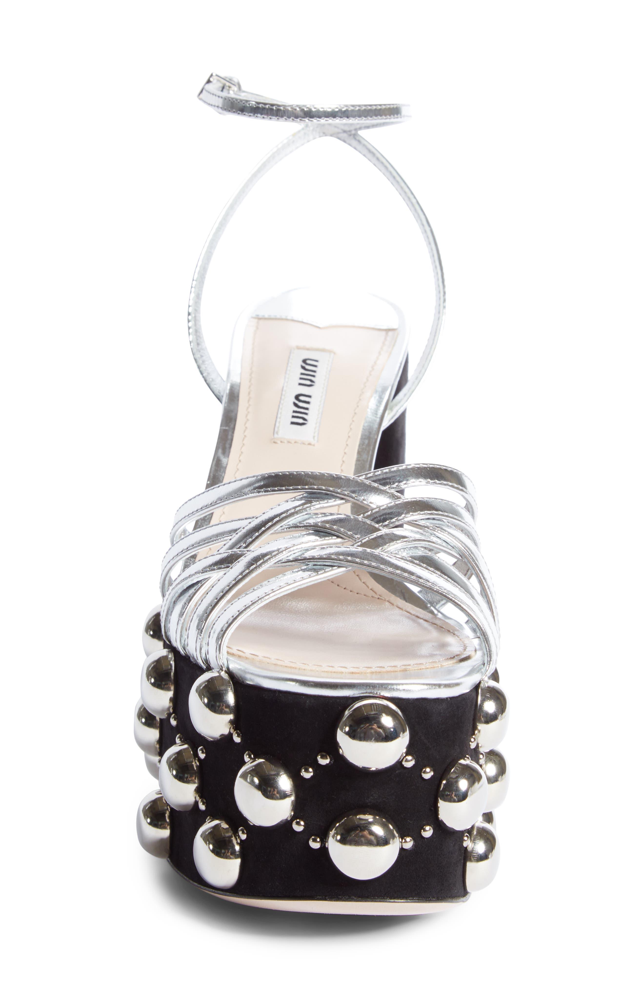 Alternate Image 3  - Miu Miu Studded Platform Sandal (Women)