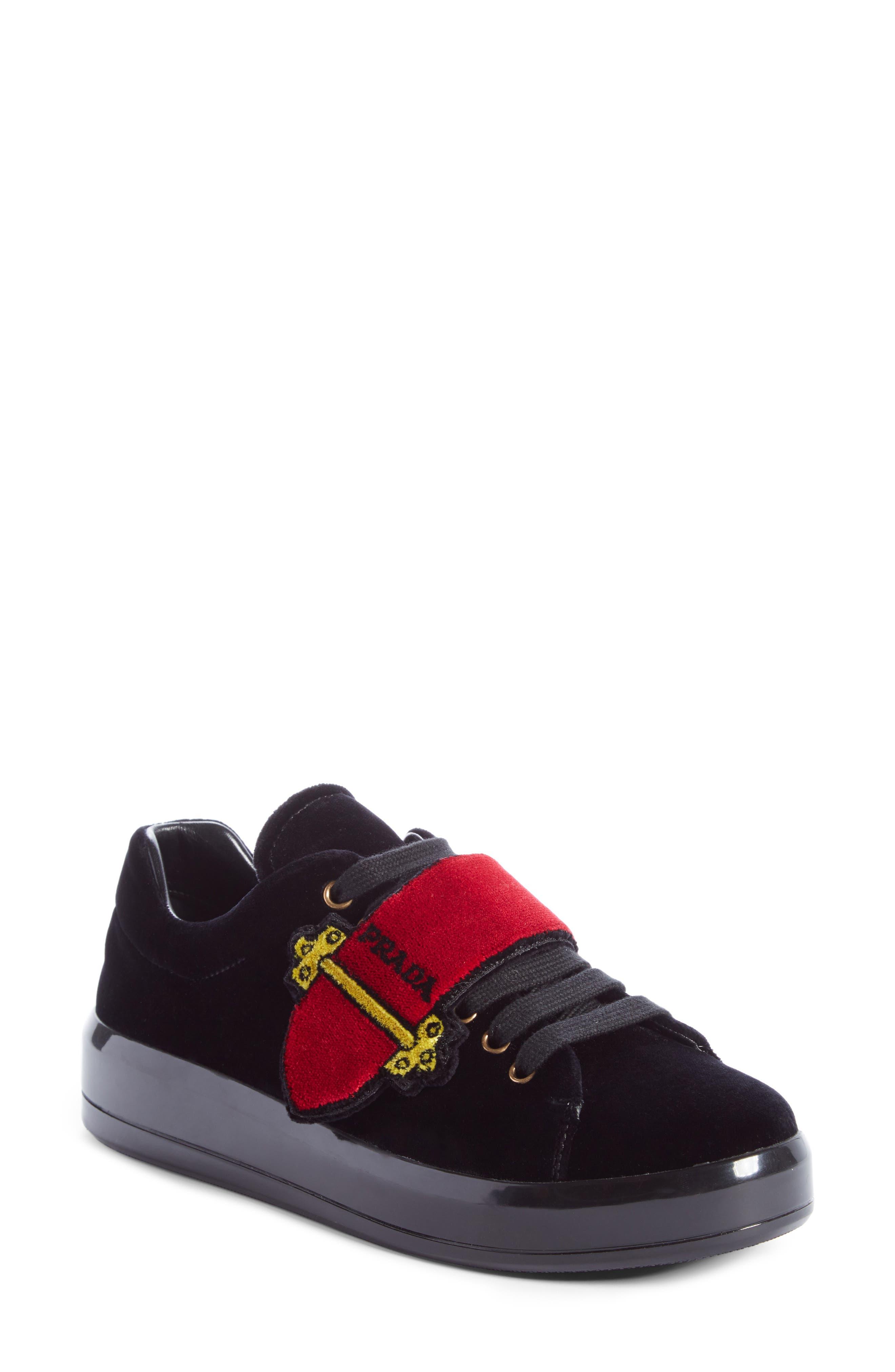 Prada Logo Strap Sneaker (Women)