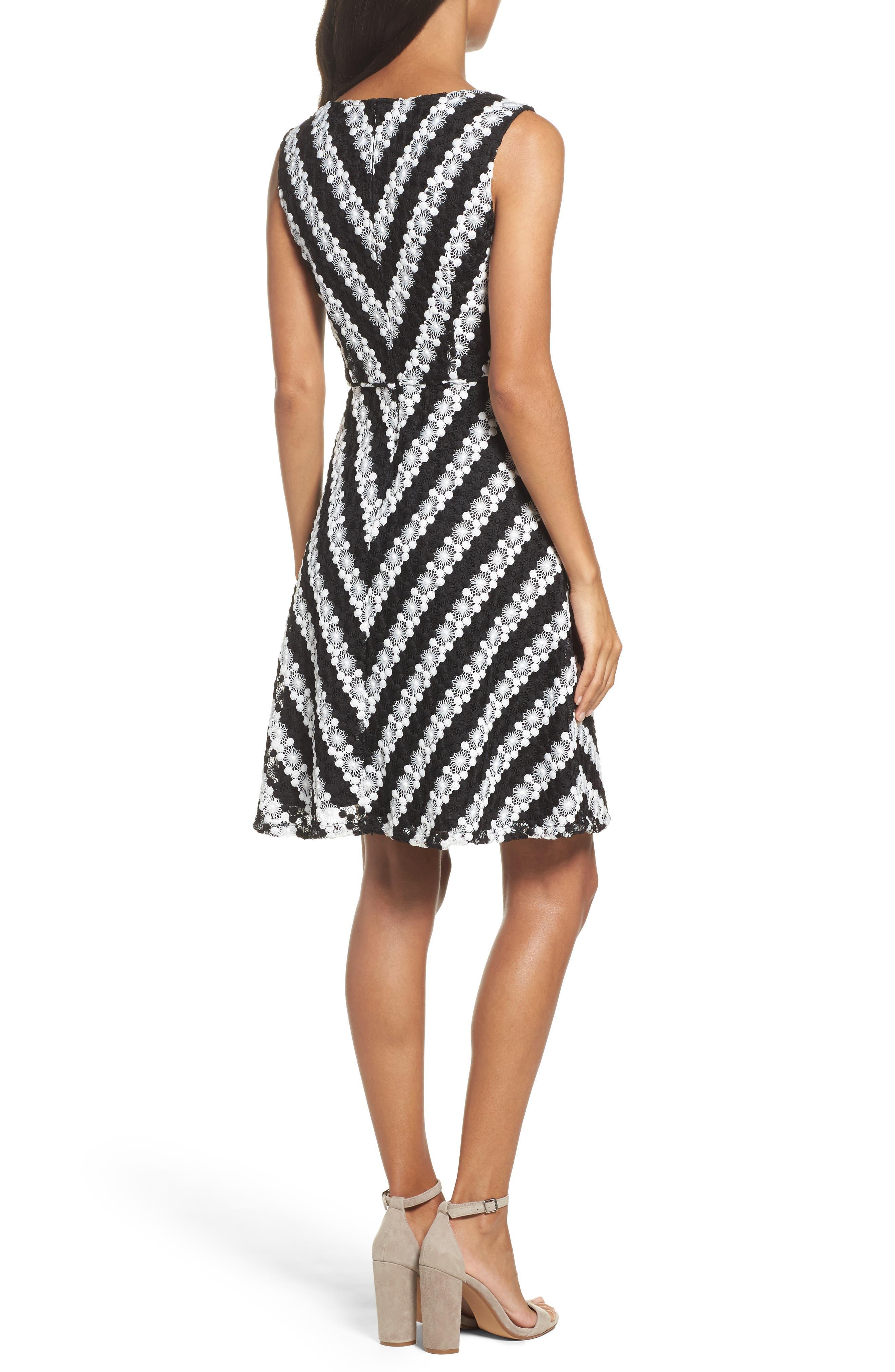 Alternate Image 2  - Adrianna Papell Fit & Flare Dress (Regular & Petite)