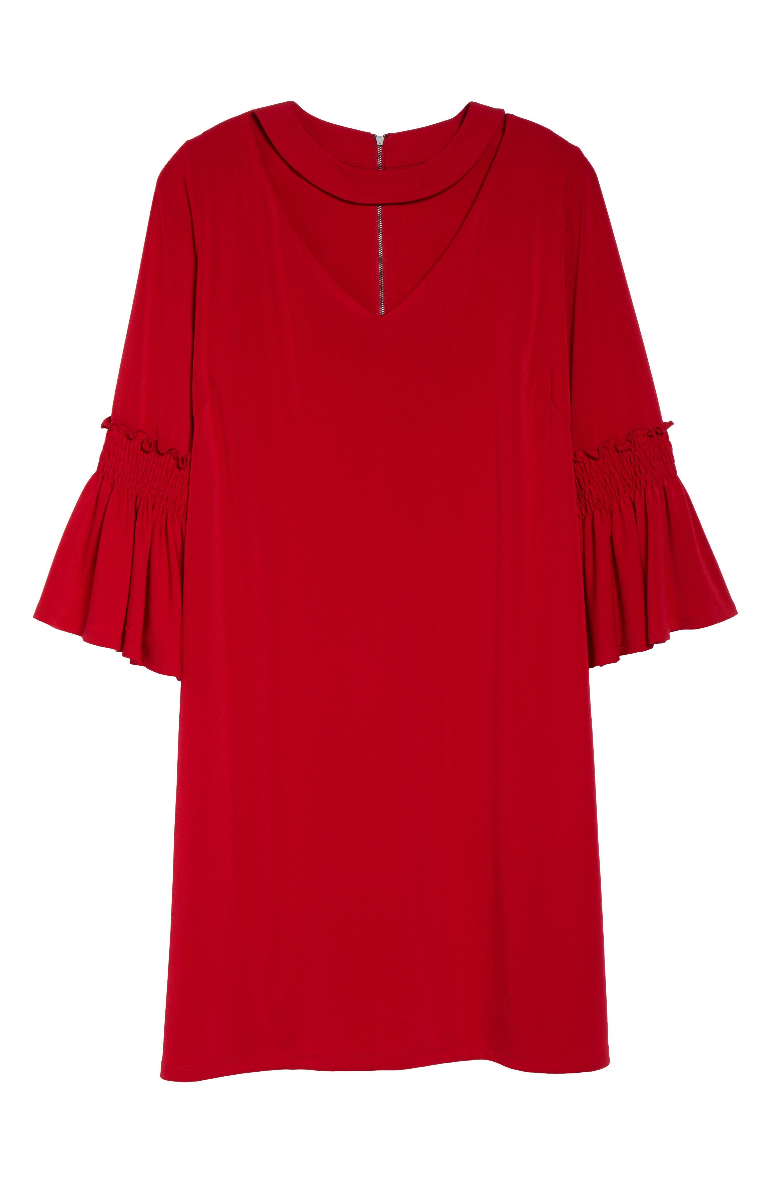 Alternate Image 6  - Gabby Skye Bell Sleeve A-Line Choker Dress (Plus Size)