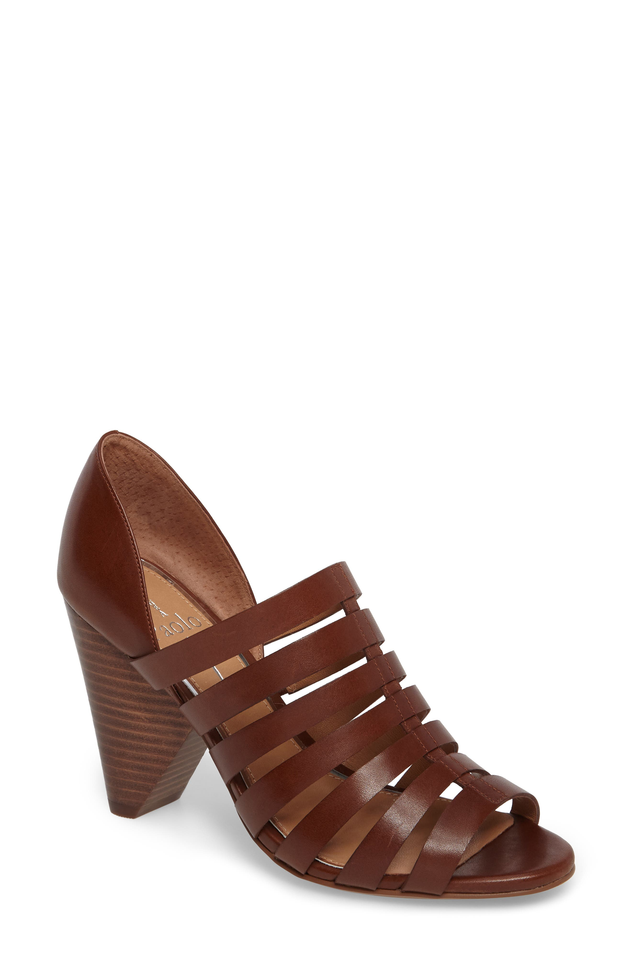 Alternate Image 1 Selected - Linea Paolo Pierce Chisel Heel Cage Sandal (Women)
