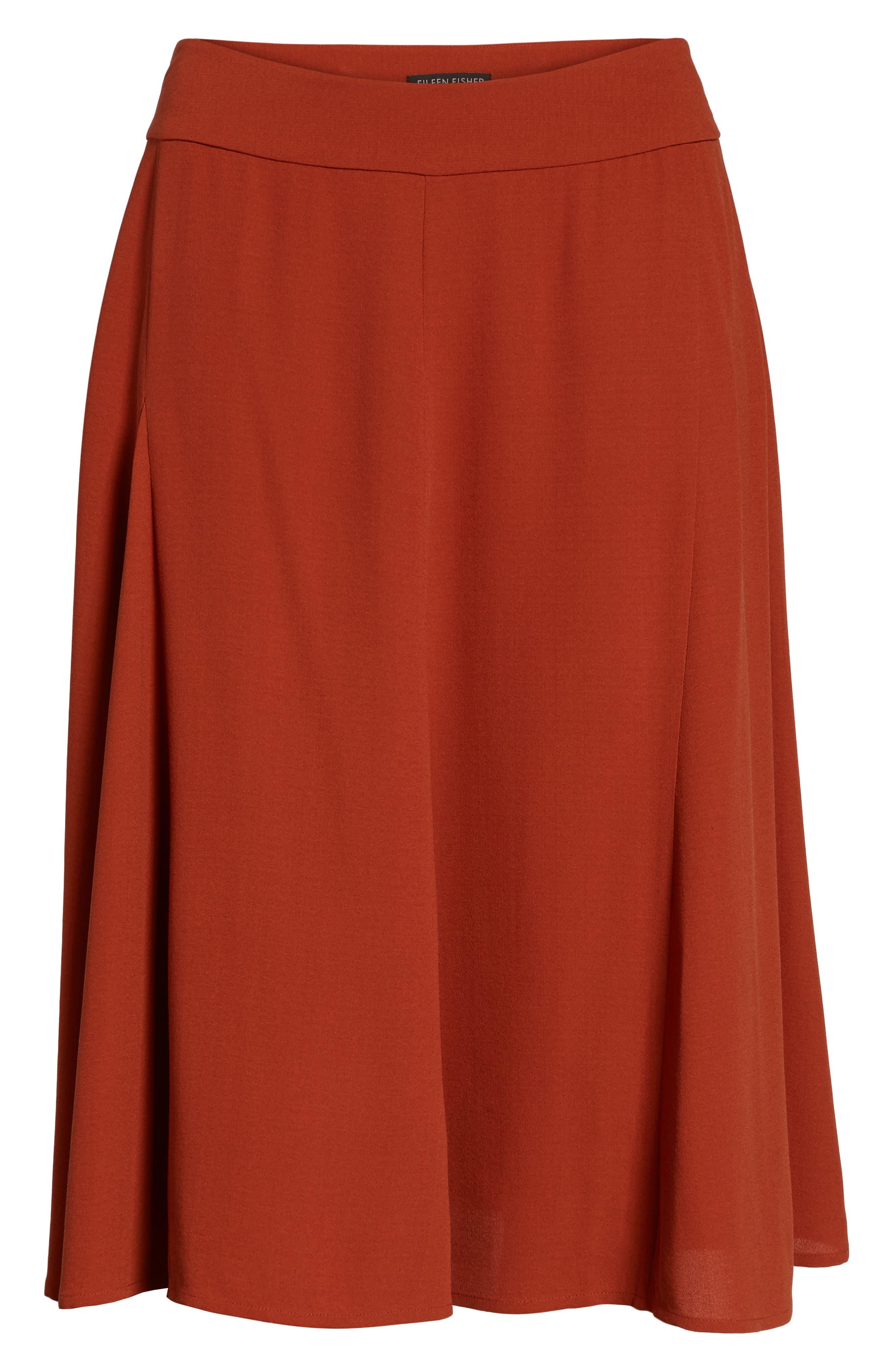 Alternate Image 6  - Eileen Fisher Gored Silk Skirt
