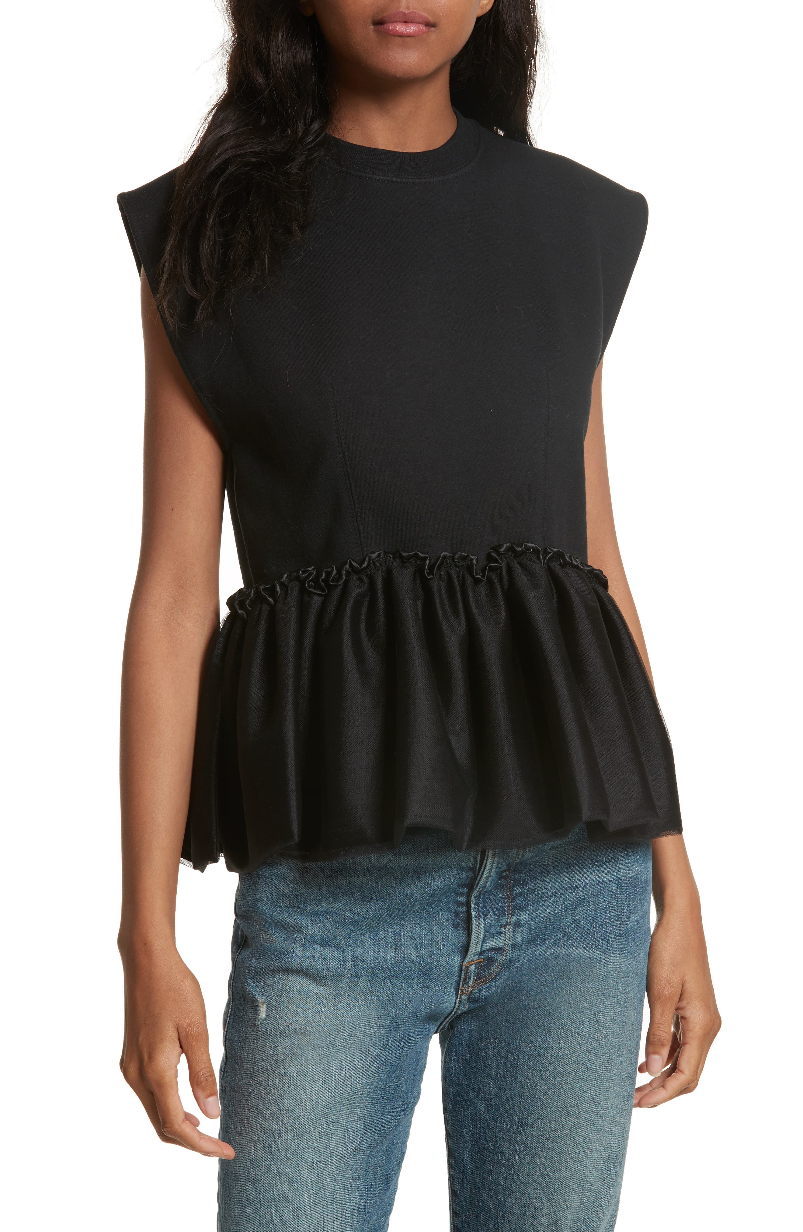 Alternate Image 1 Selected - Harvey Faircloth Tulle Peplum Tank