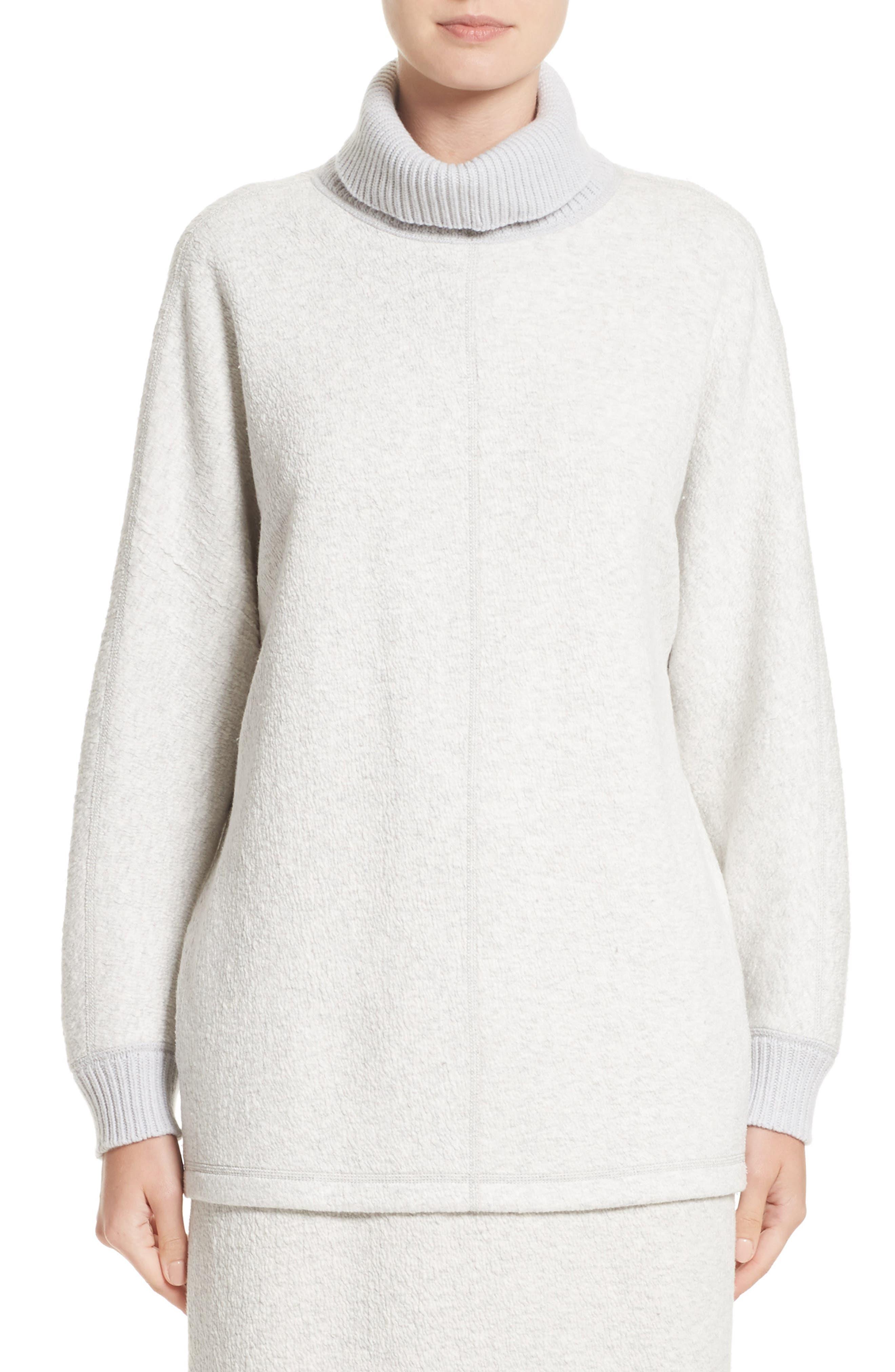 Lafayette 148 New York Rib Knit Turtleneck Sweater