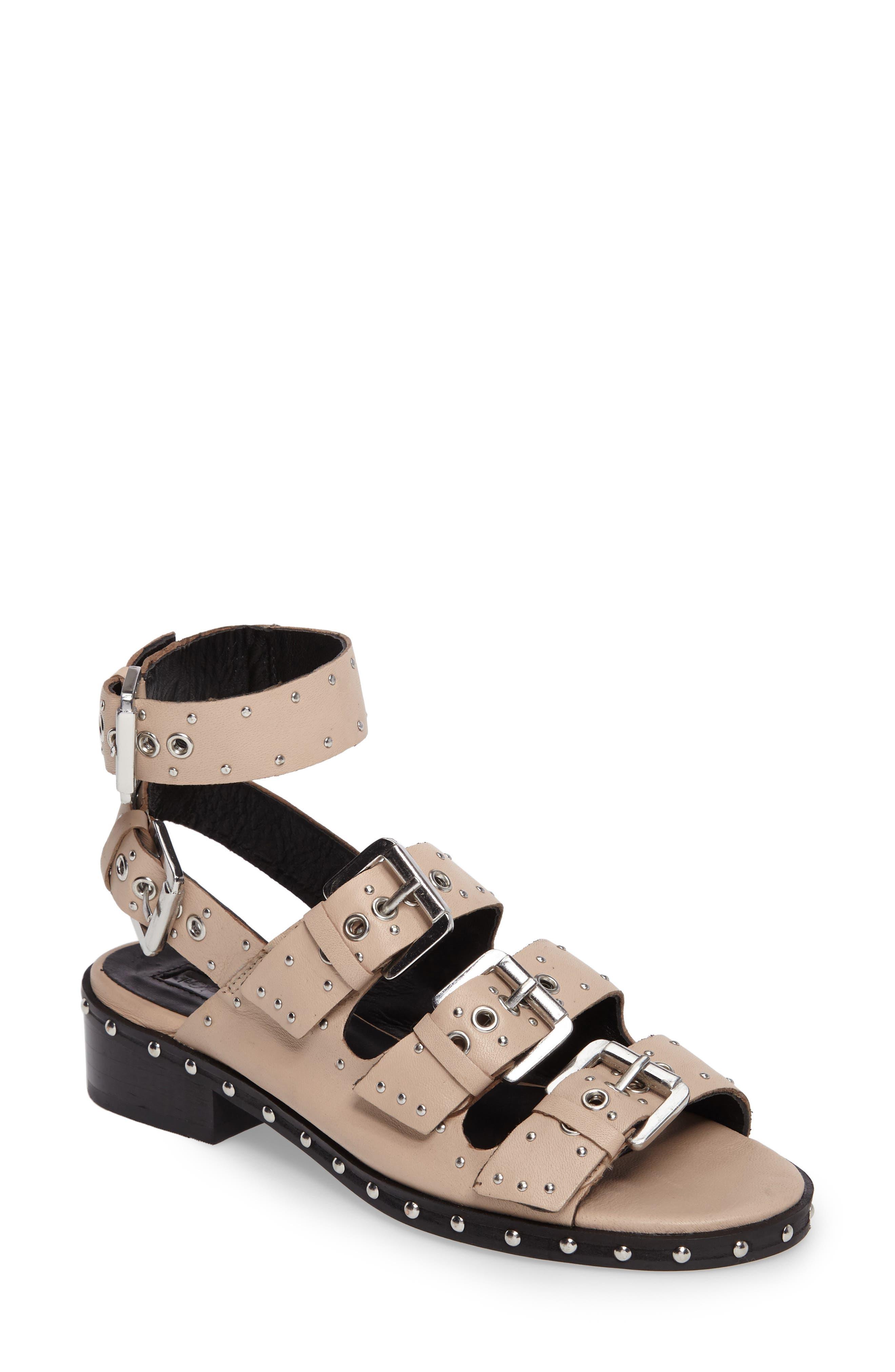 Topshop Frank Studded Buckle Sandal (Women)