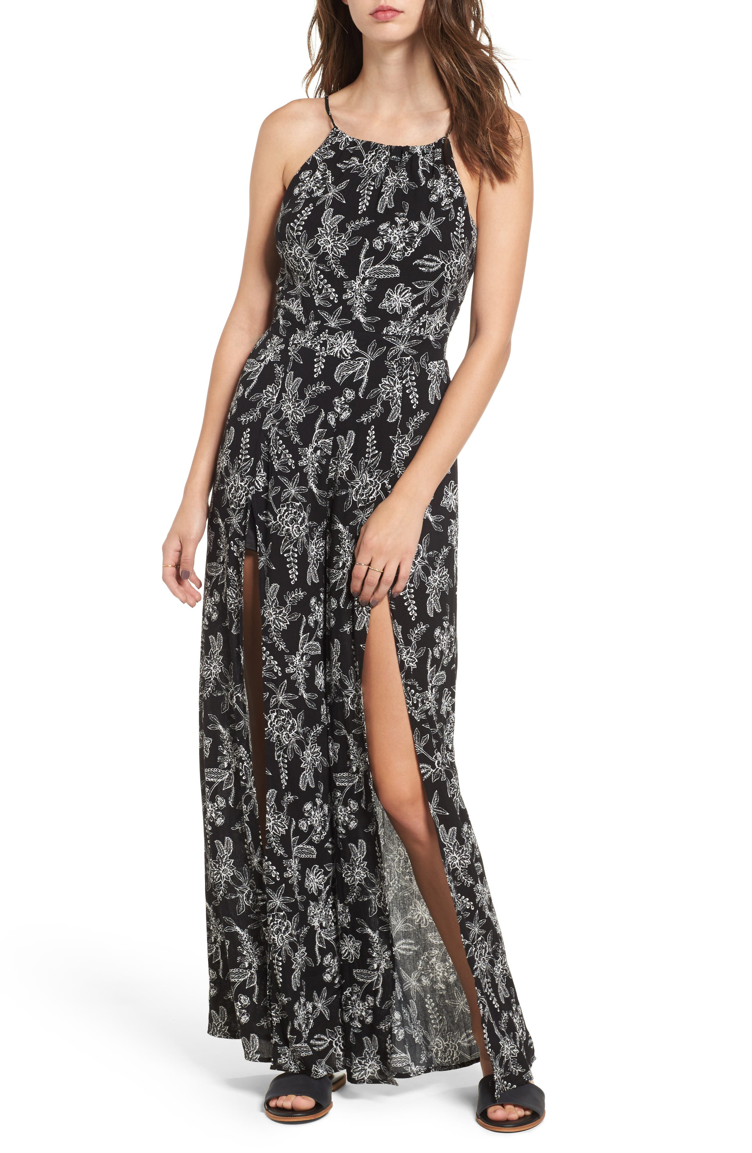 Dee Elly Tie Back High Neck Jumpsuit