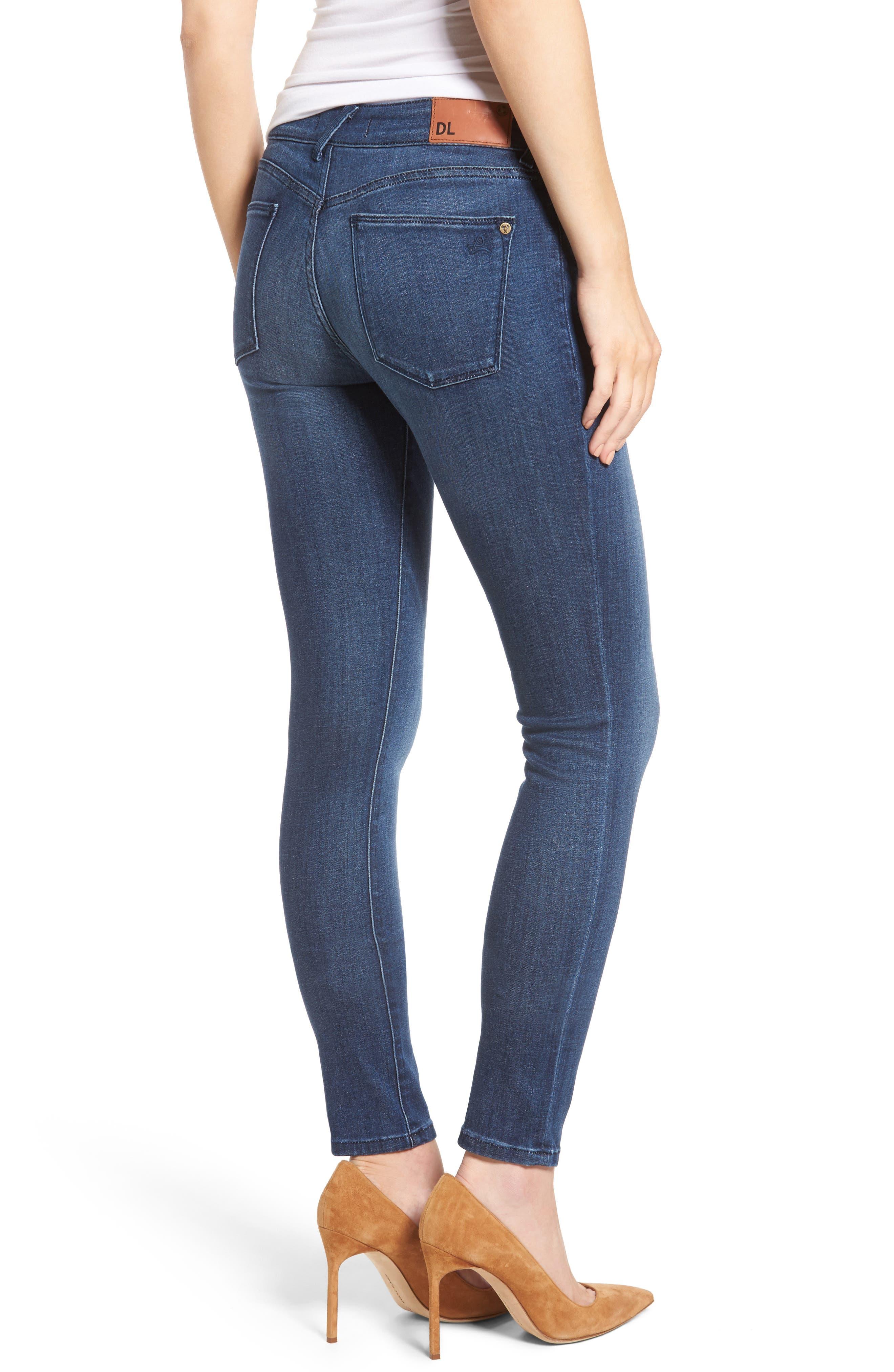 Amanda Skinny Jeans,                             Alternate thumbnail 2, color,                             Trance