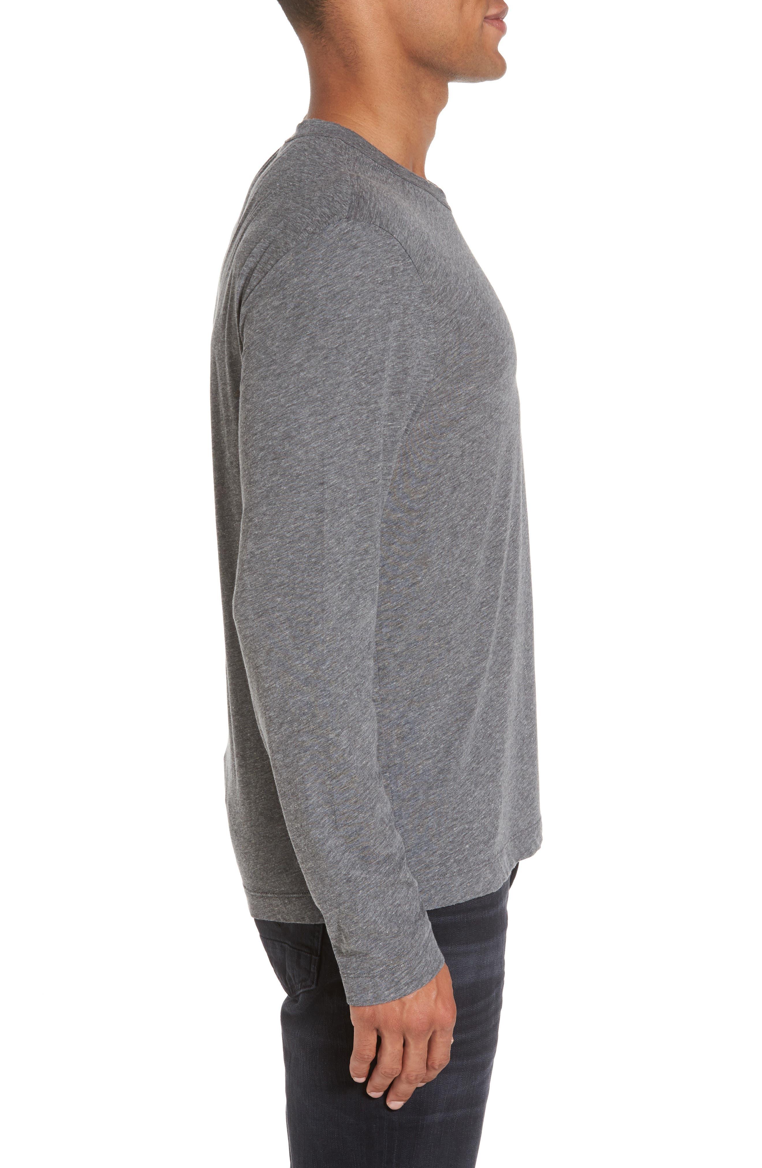 Alternate Image 3  - James Perse Mélange Knit Long Sleeve T-Shirt