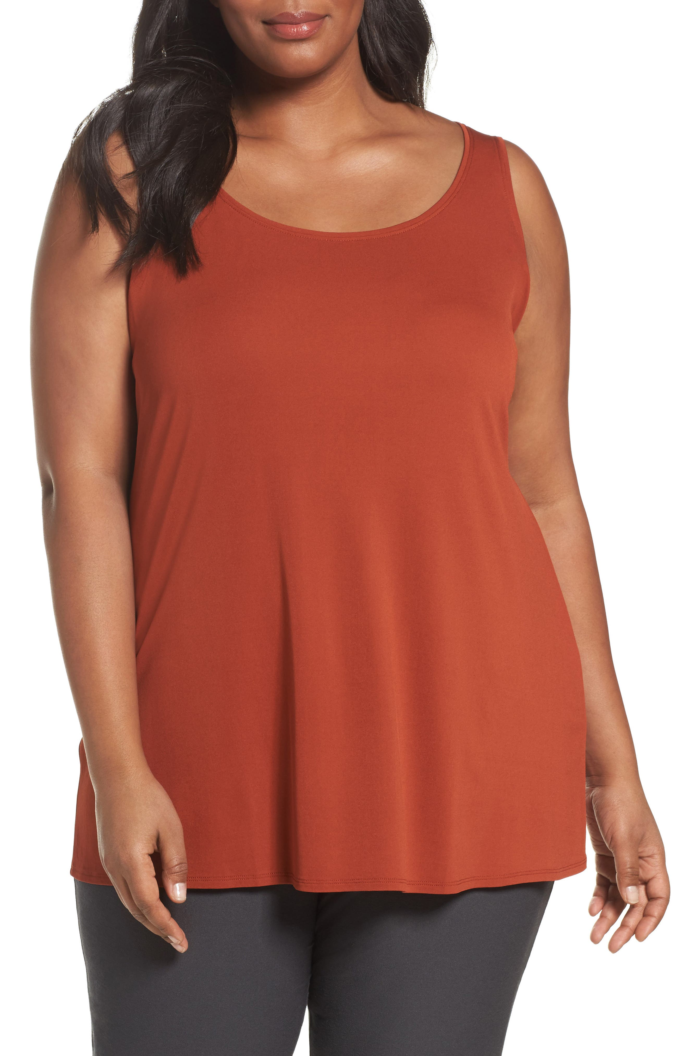 Eileen Fisher Silk Jersey Tank (Plus Size)
