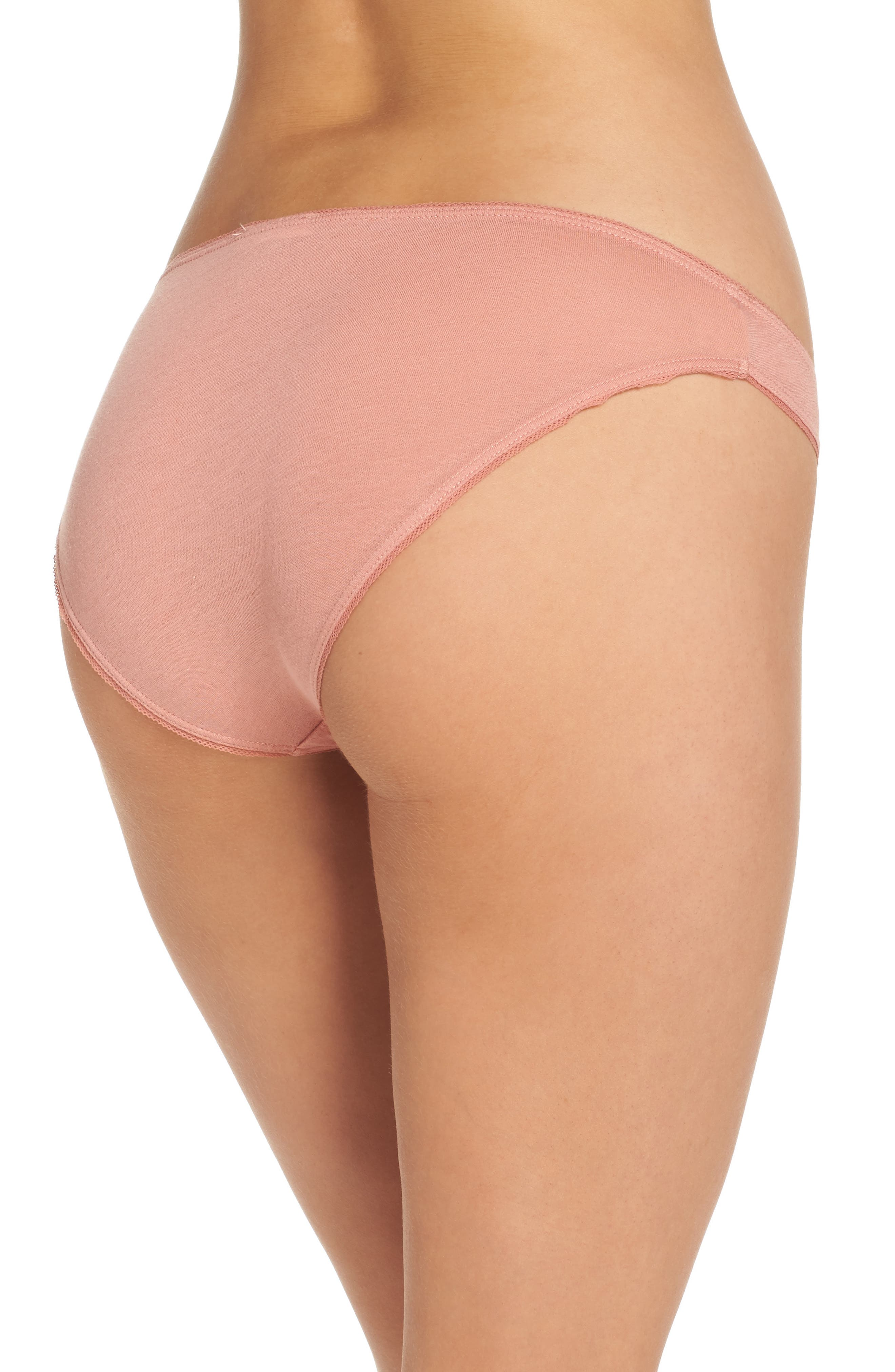Organic Cotton Bikini,                             Alternate thumbnail 2, color,                             Vintage Pink