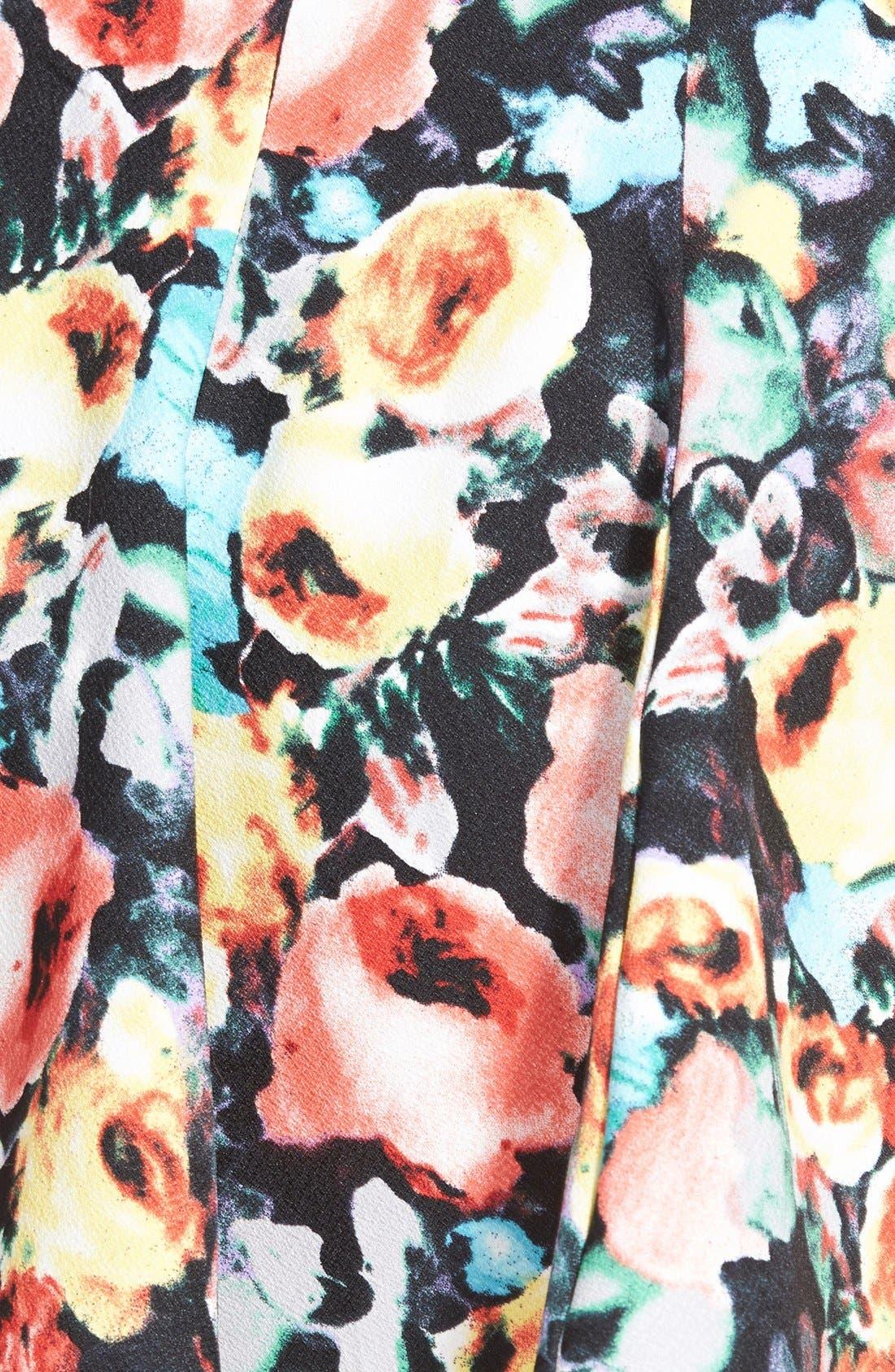 Alternate Image 3  - Lush Print Skater Skirt