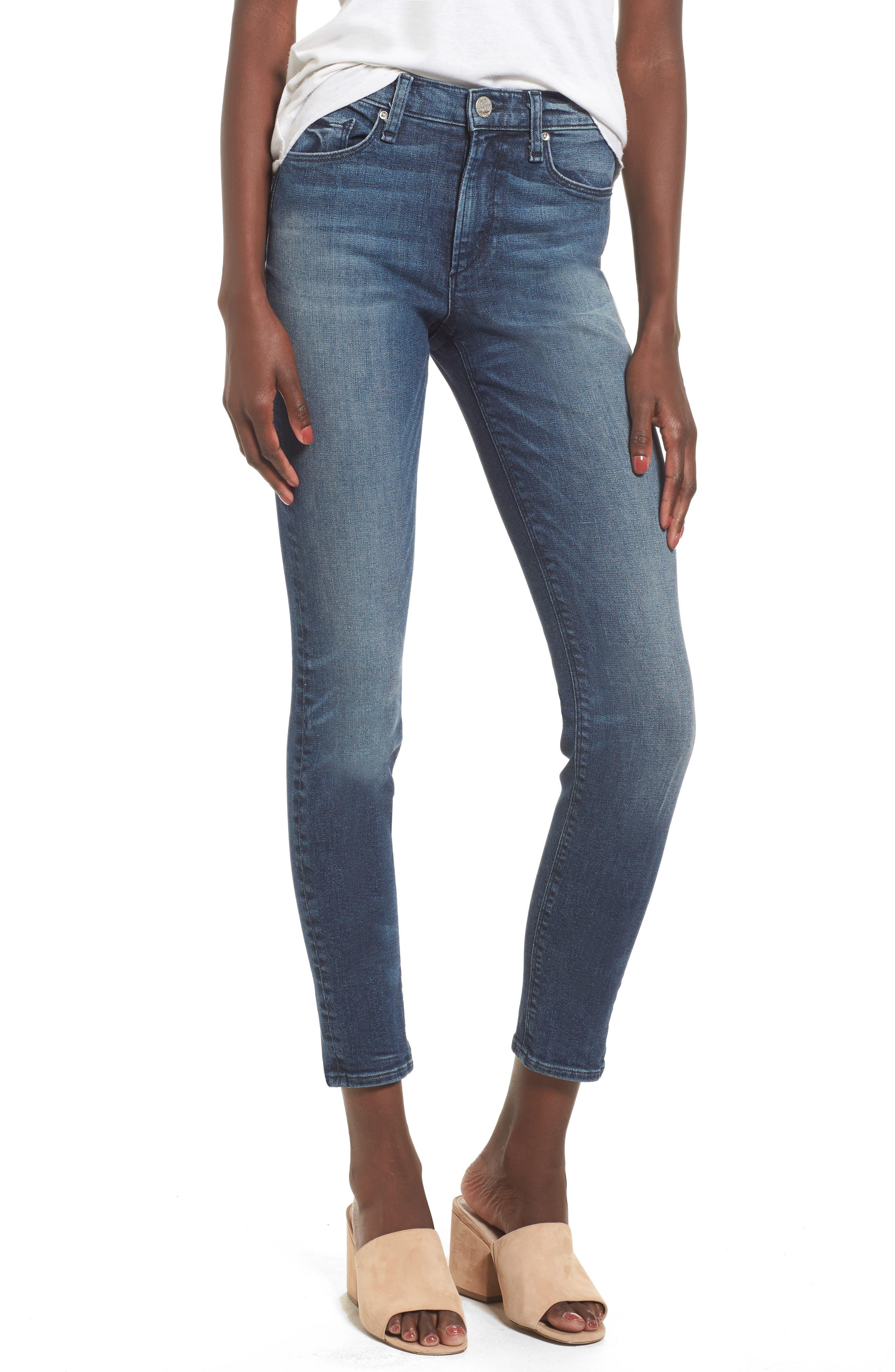 Newton High Waist Skinny Jeans,                         Main,                         color, Isle In The Sky