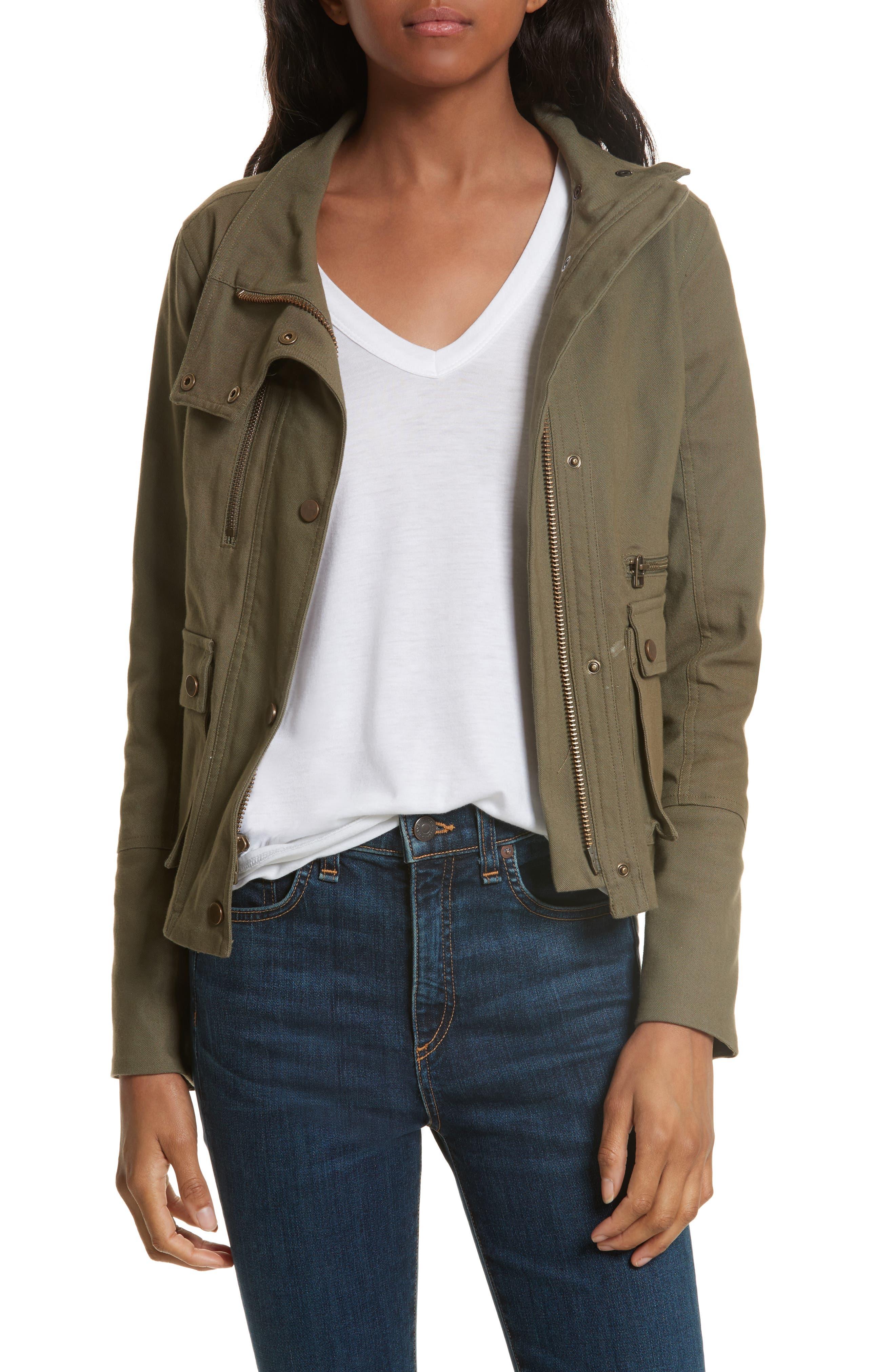 Everglade Peplum Jacket,                         Main,                         color, Army Green