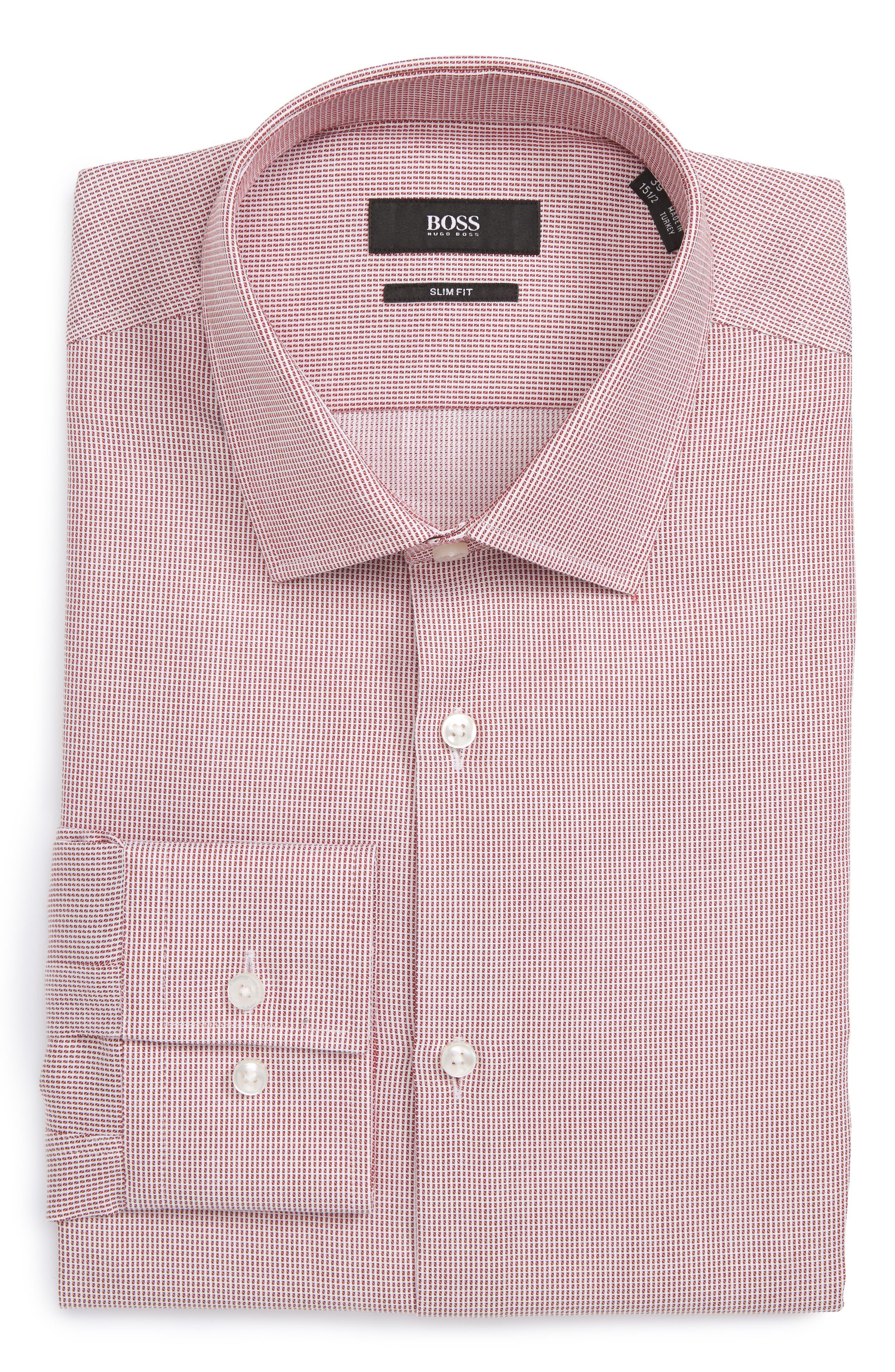 BOSS Slim Fit Check Dress Shirt